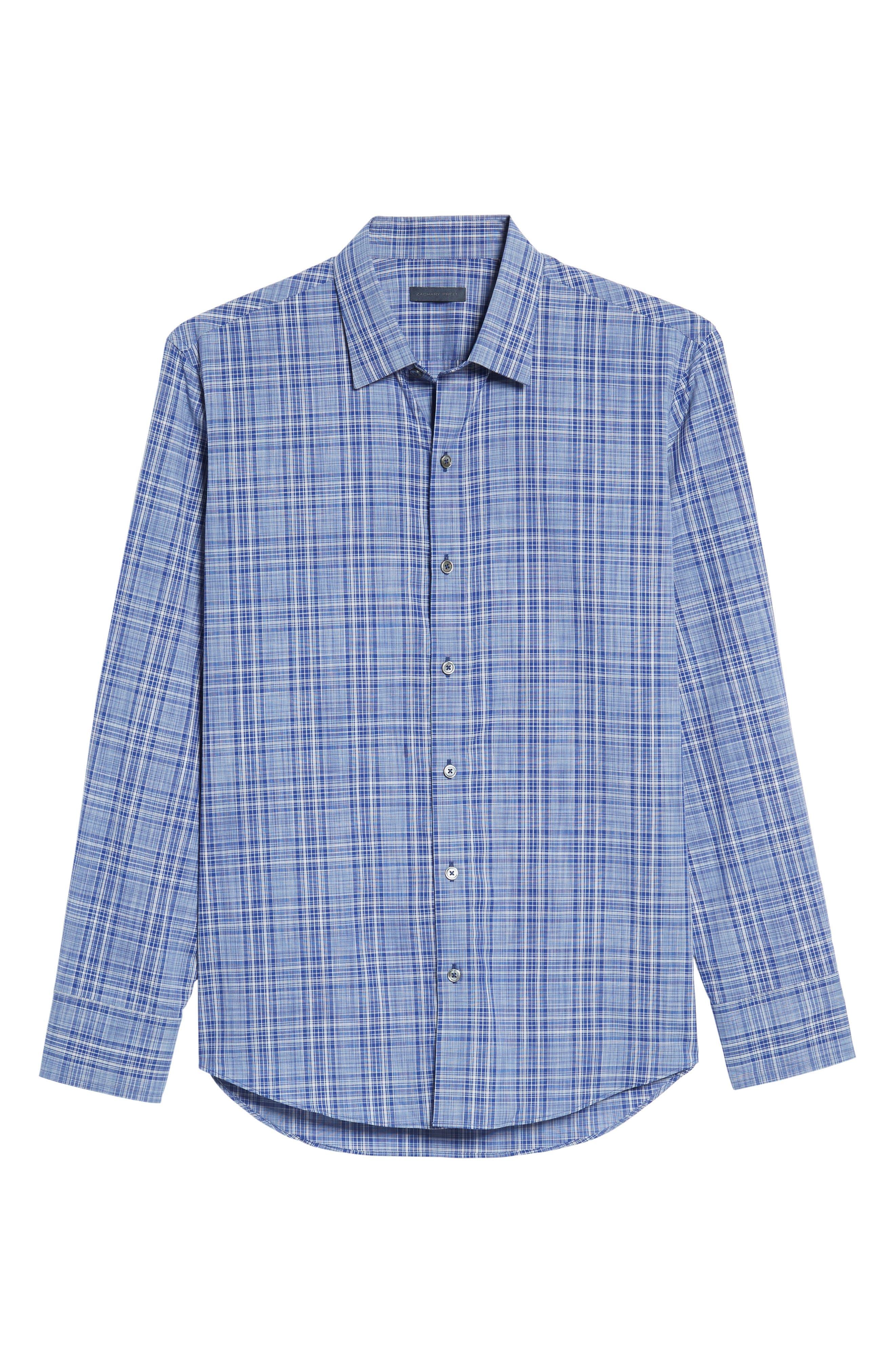 Wein Slim Fit Check Sport Shirt,                             Alternate thumbnail 6, color,                             401