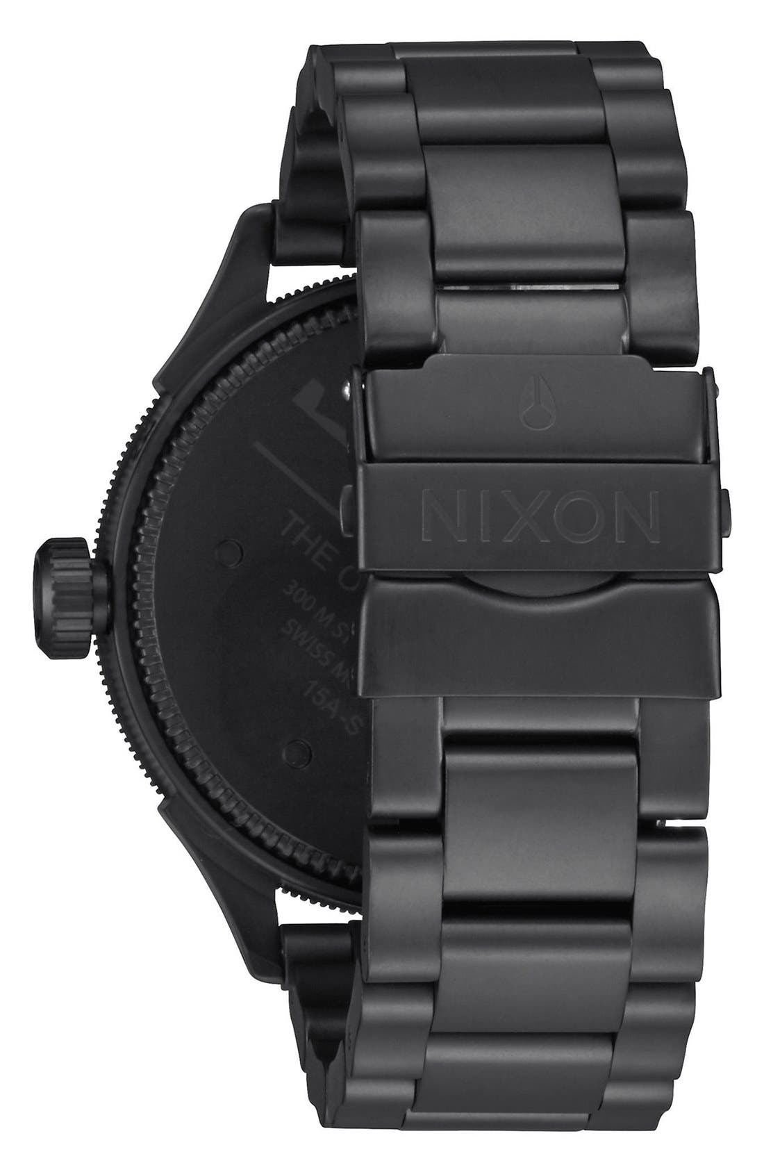 NIXON,                             'The October Tide' Multifunction Bracelet Watch, 49mm,                             Alternate thumbnail 2, color,                             001