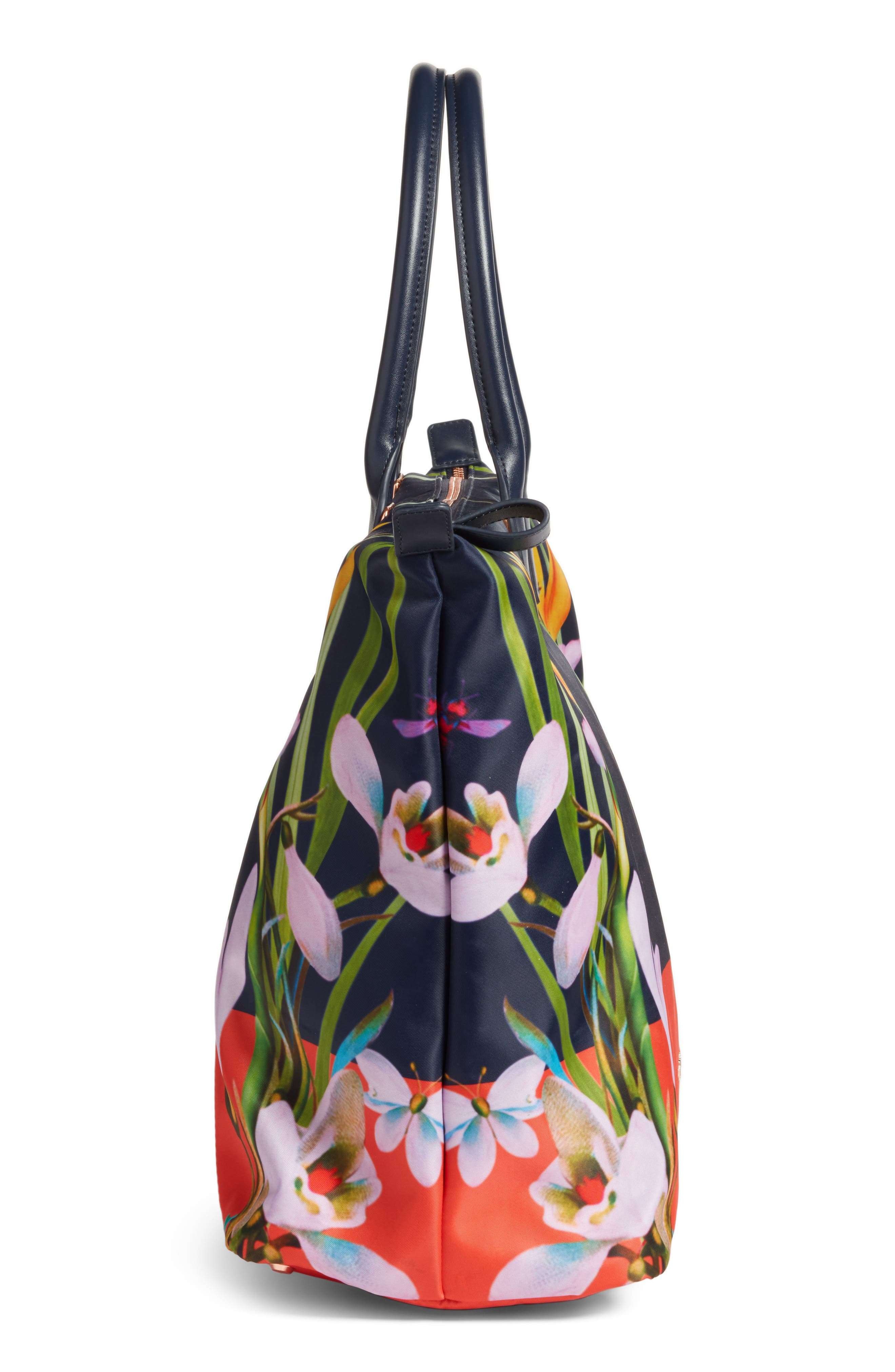 Tropical Oasis Large Tote,                             Alternate thumbnail 5, color,                             410