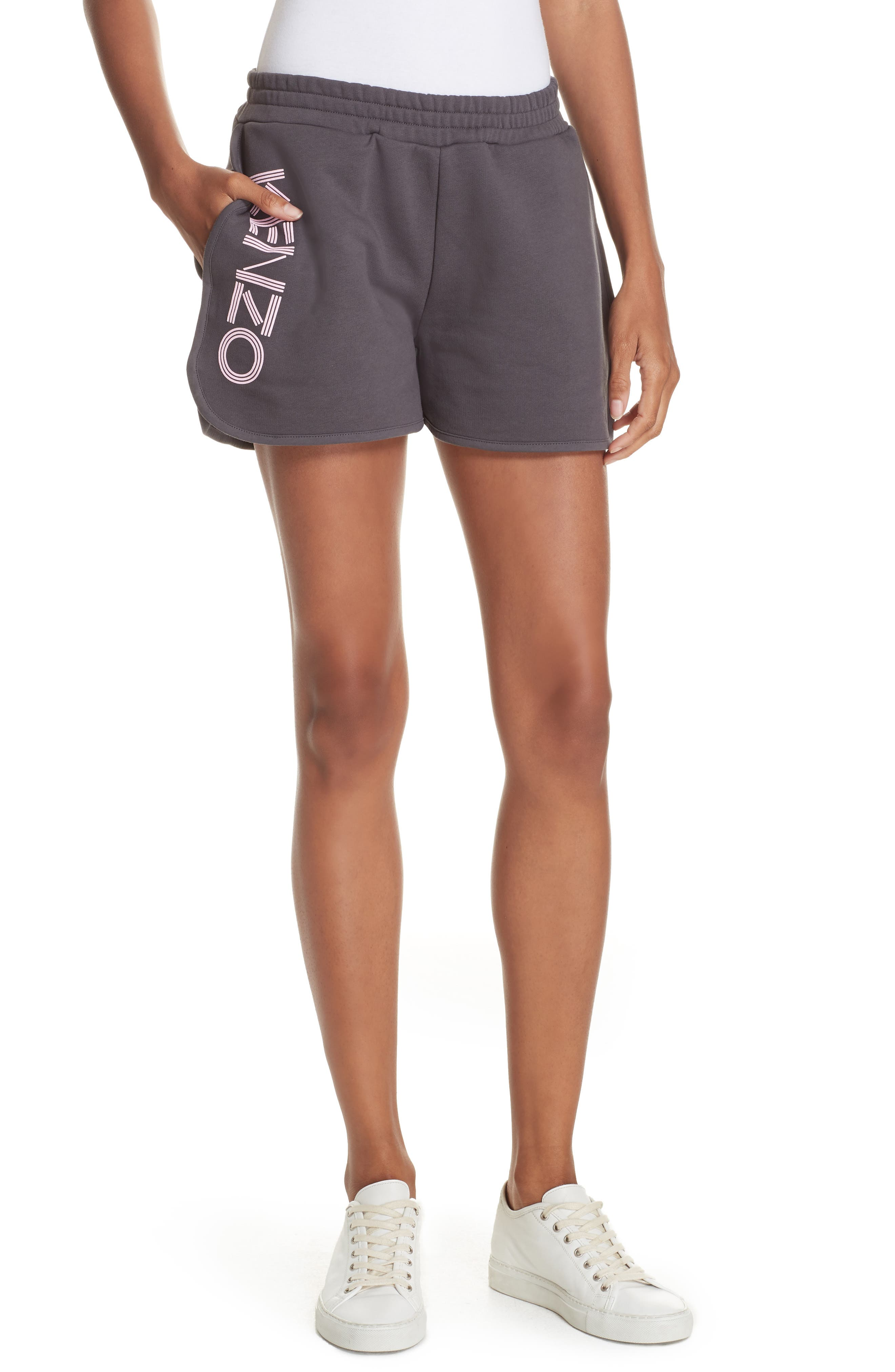 Logo Sport Shorts,                         Main,                         color, ANTHRACITE