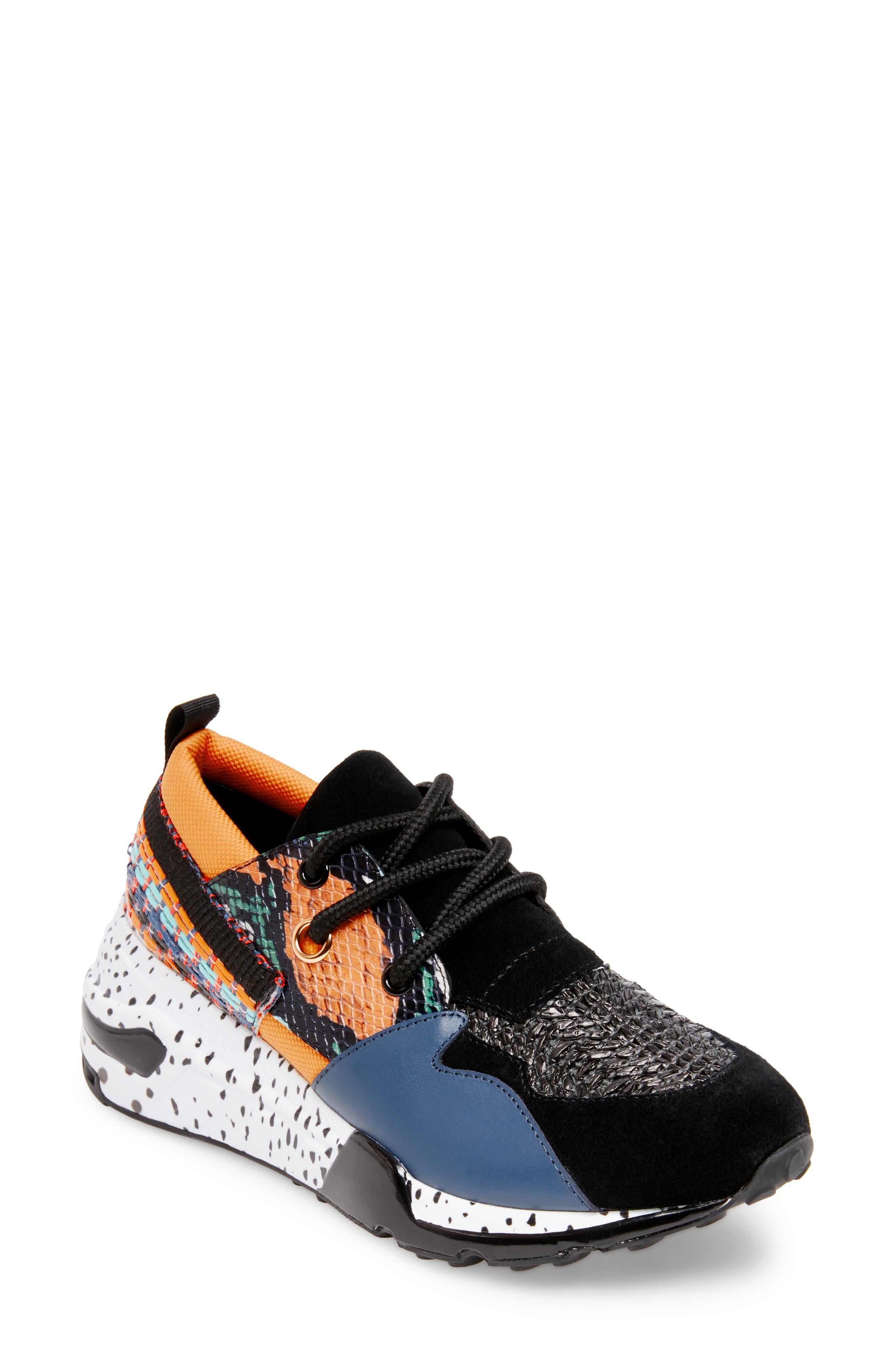 Cliff Sneaker,                         Main,                         color, ORANGE MULTICOLOR