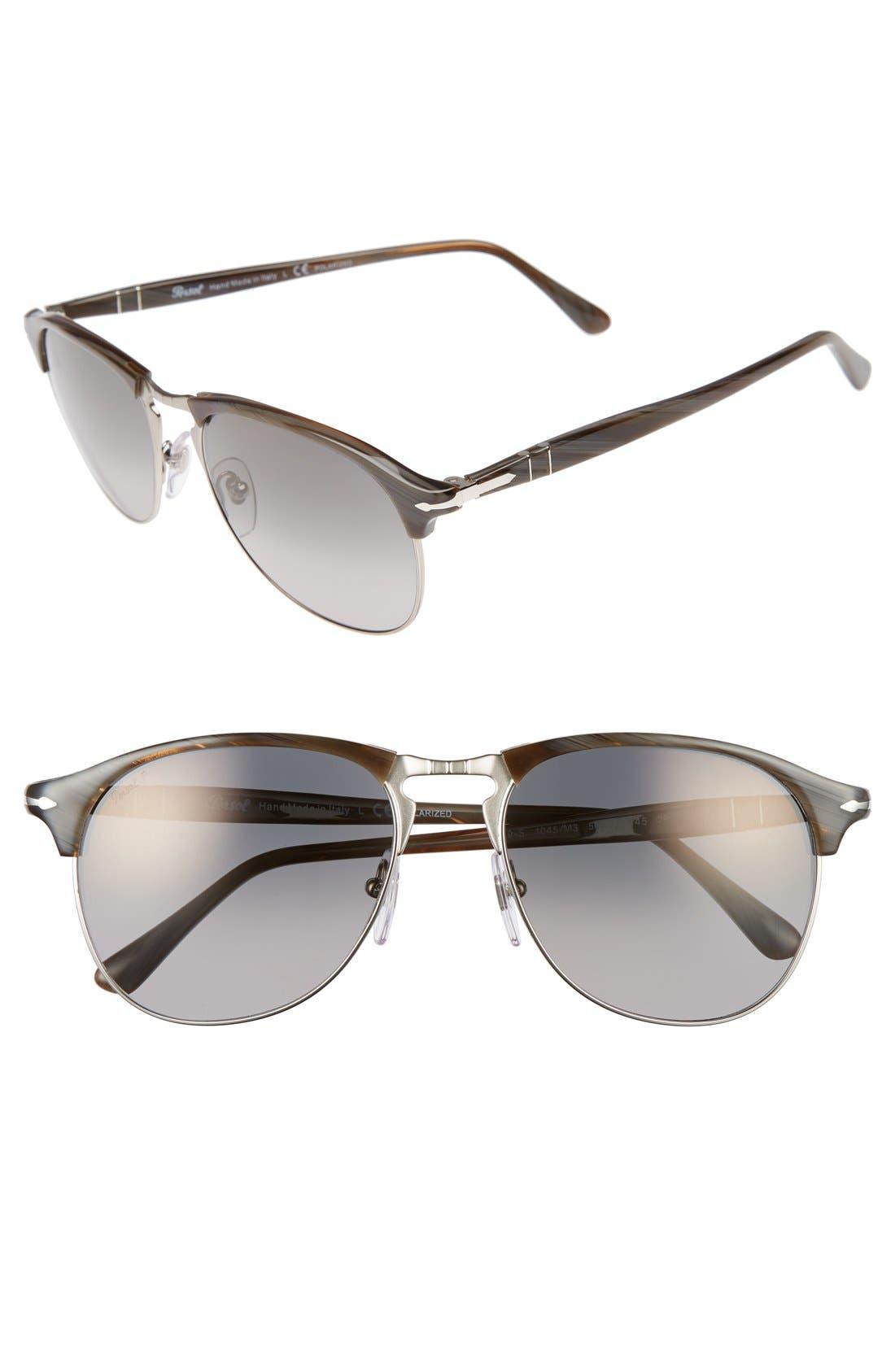 56mm Keyhole Sunglasses,                             Main thumbnail 1, color,                             GREY HORN