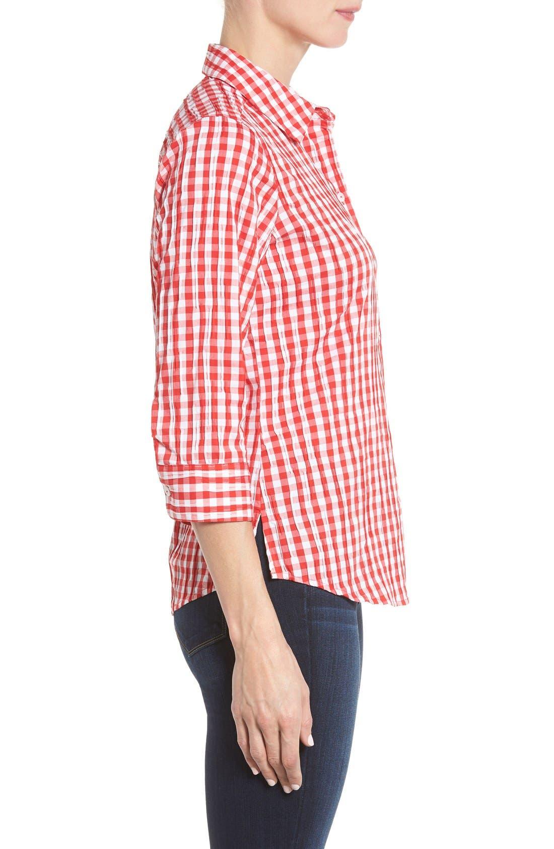 Crinkled Gingham Shirt,                             Alternate thumbnail 20, color,