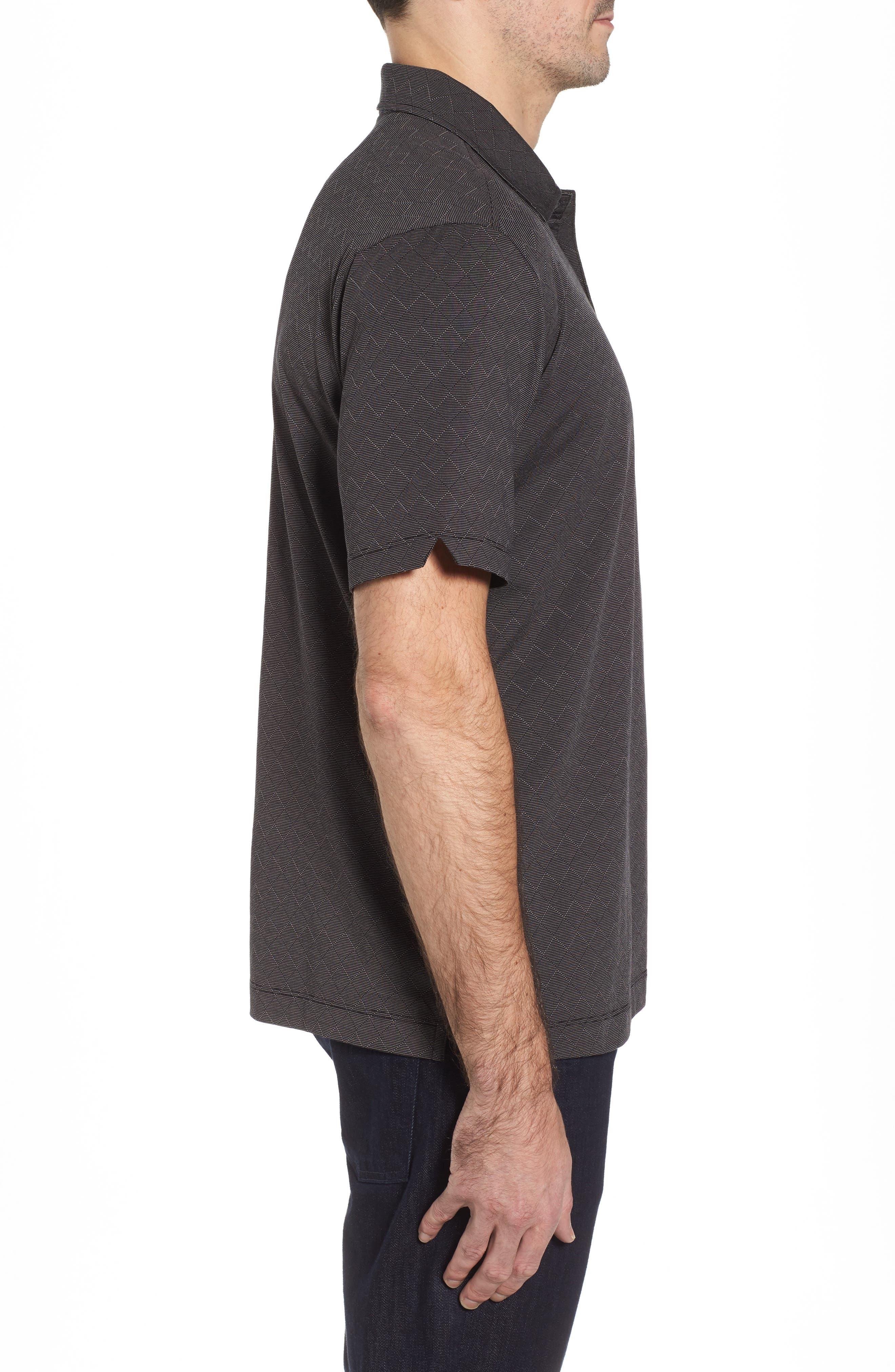 Diamond Drift Spectator Polo Shirt,                             Alternate thumbnail 3, color,                             001