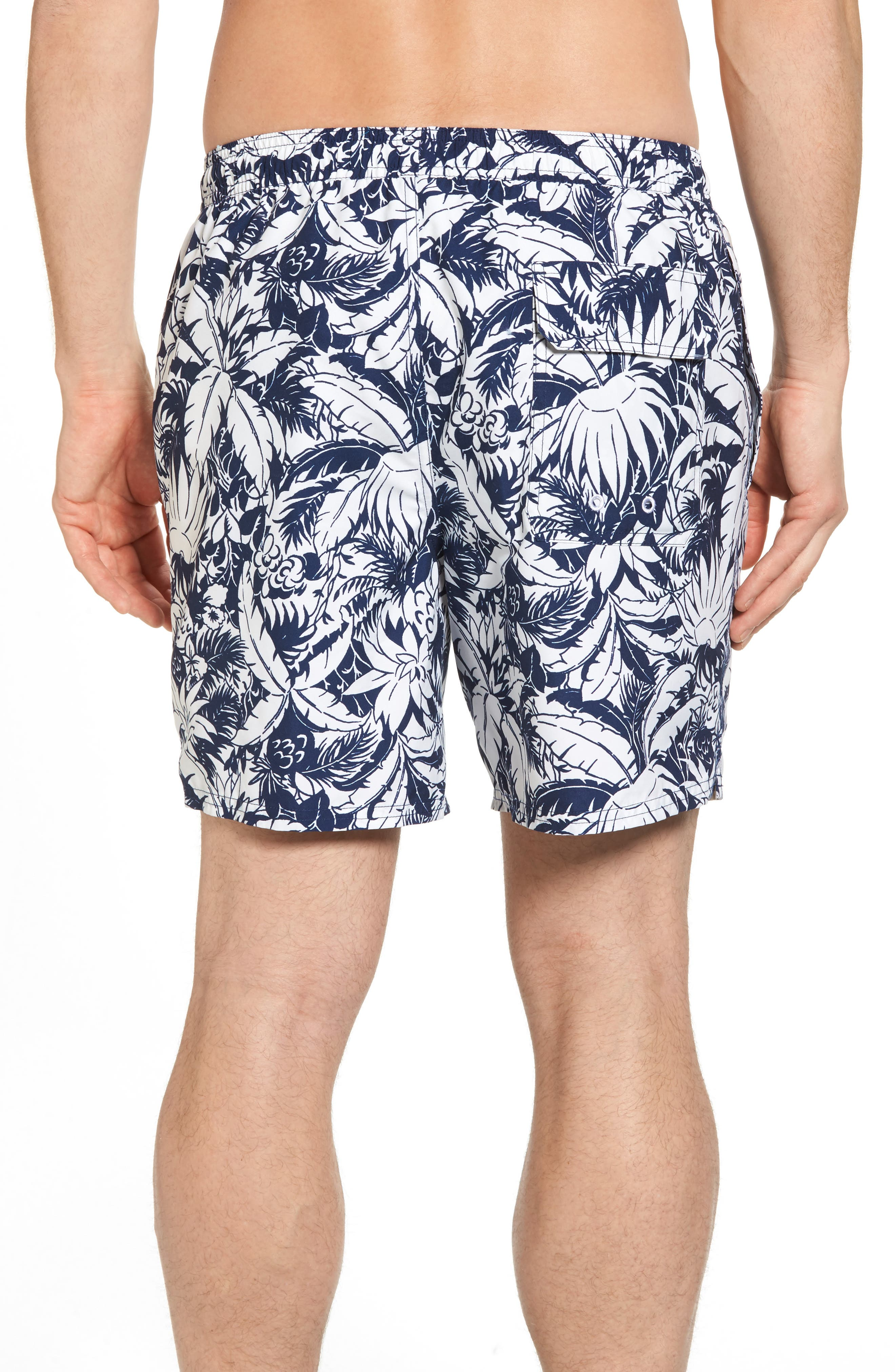 Chappy Pineapple in Palms Swim Trunks,                             Alternate thumbnail 2, color,                             400