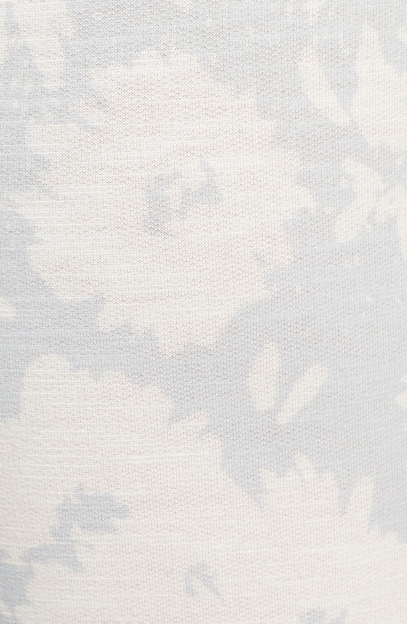 Stripe Print Capri Yoga Pants,                             Alternate thumbnail 6, color,                             451