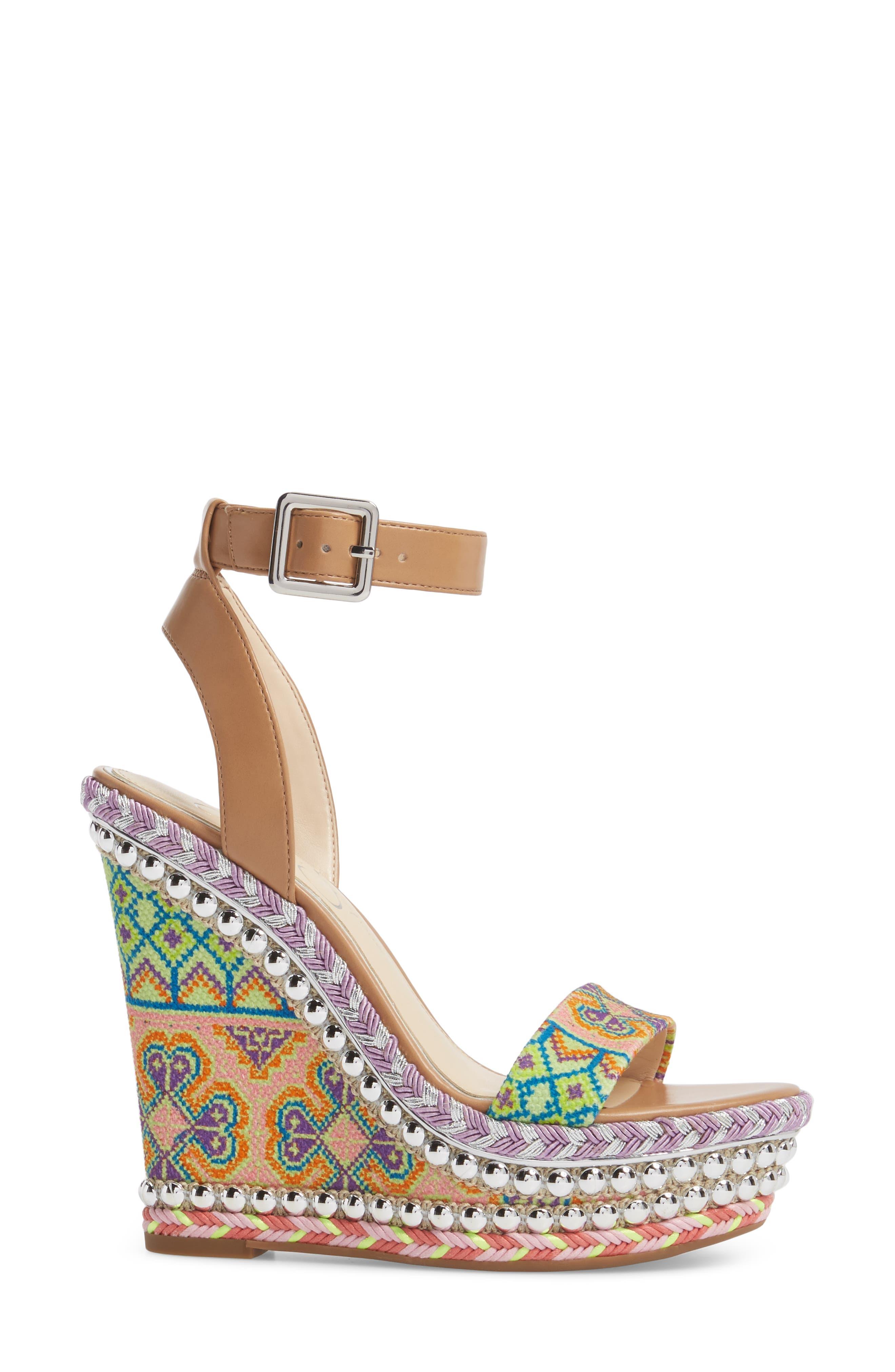 Alinda Embellished Wedge Sandal,                             Alternate thumbnail 3, color,                             320
