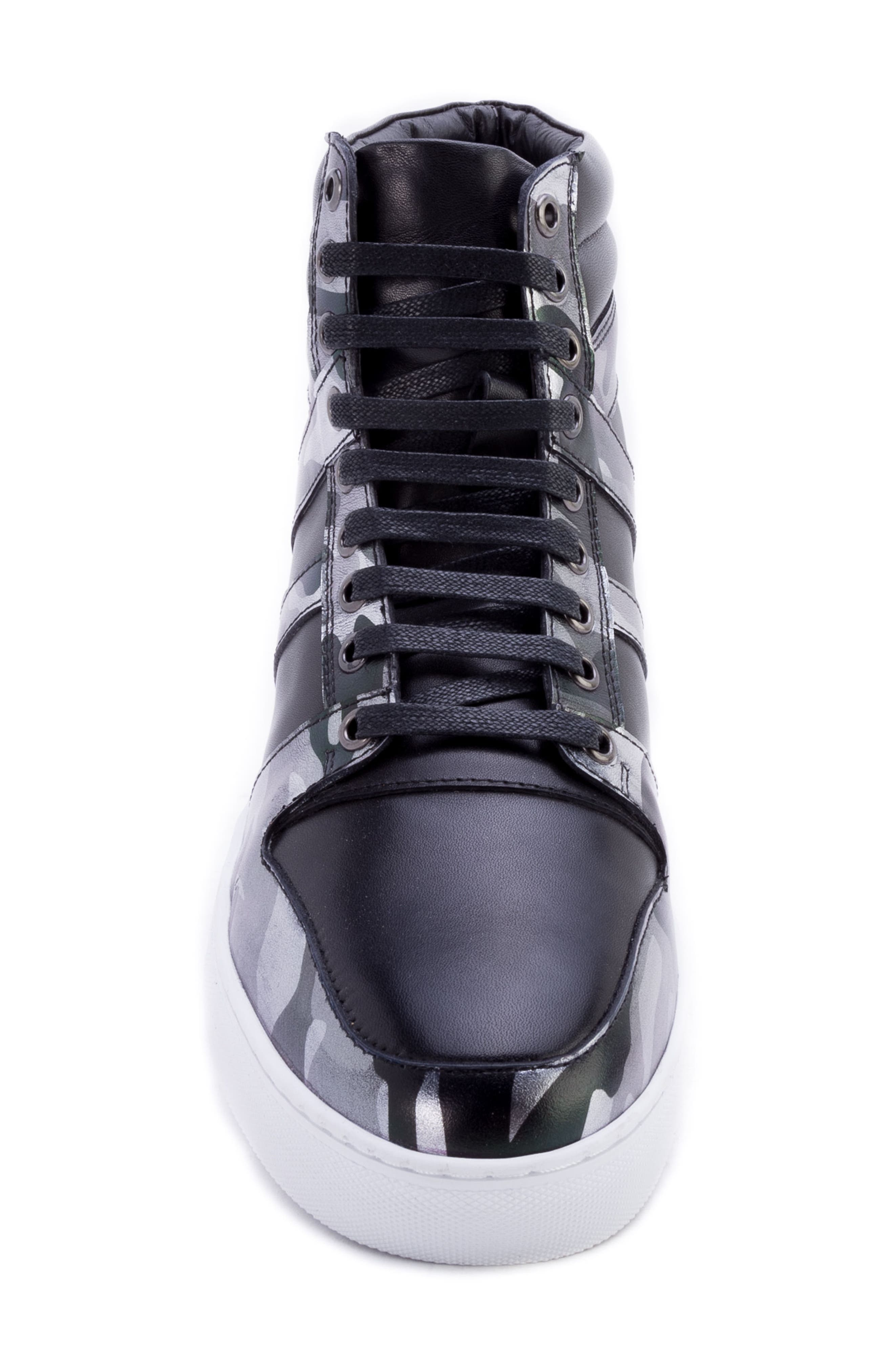 Sutherland Sneaker,                             Alternate thumbnail 5, color,                             BLACK LEATHER
