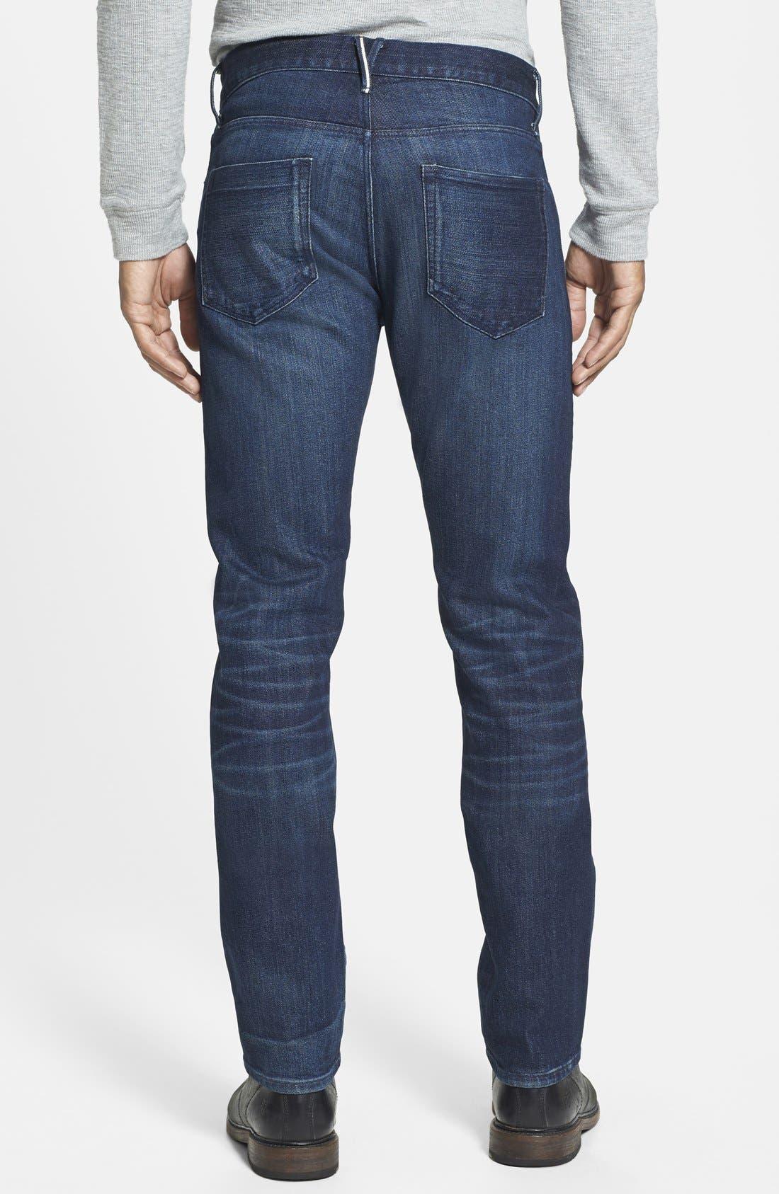 'M3' Slim Fit Selvedge Jeans,                             Alternate thumbnail 2, color,                             413