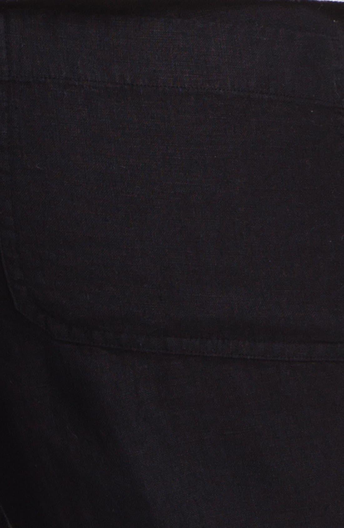 Linen Pants,                             Alternate thumbnail 3, color,                             001