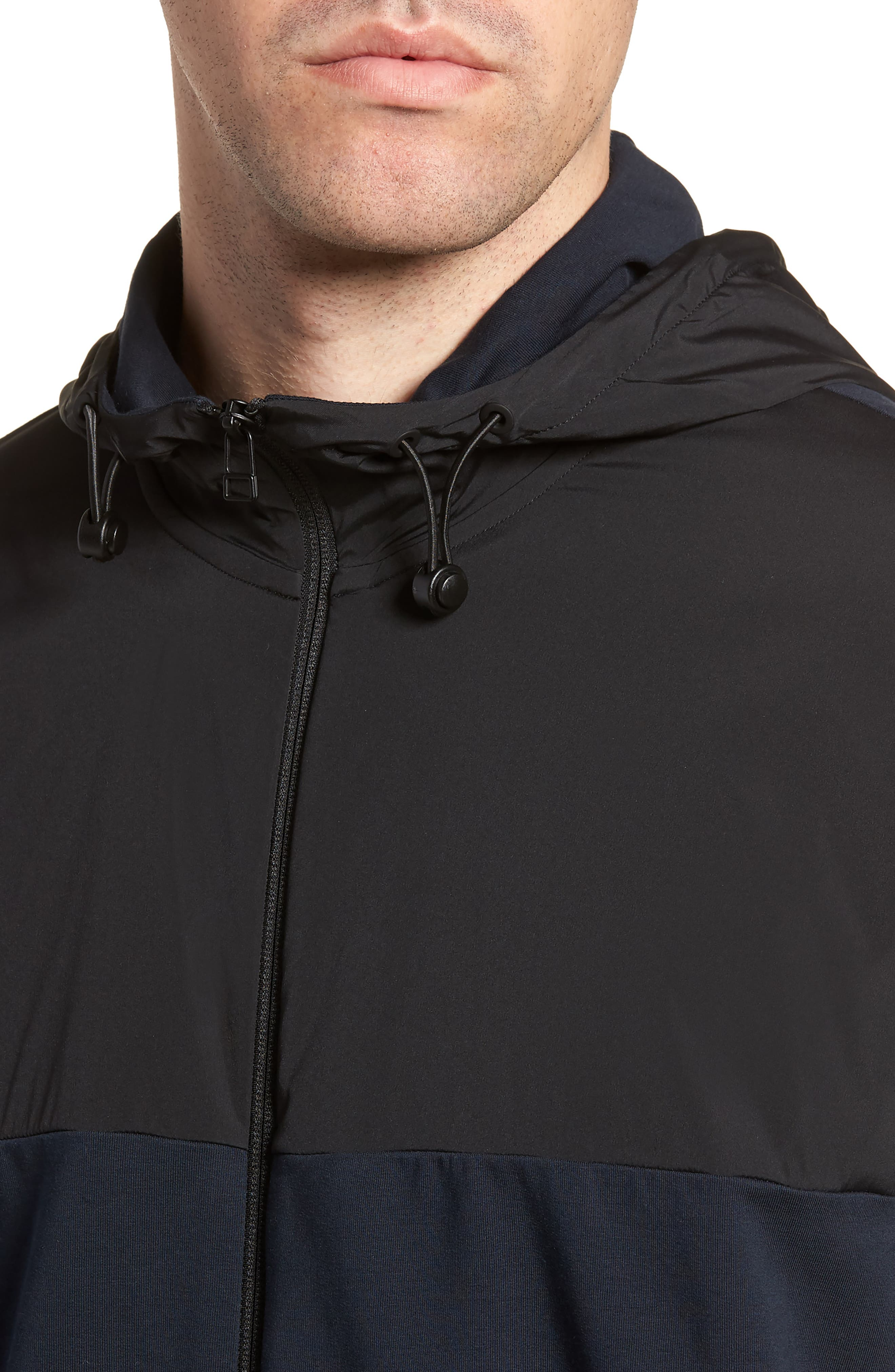 Combo Tech Regular Fit Full Zip Hoodie,                             Alternate thumbnail 4, color,                             ECLIPSE