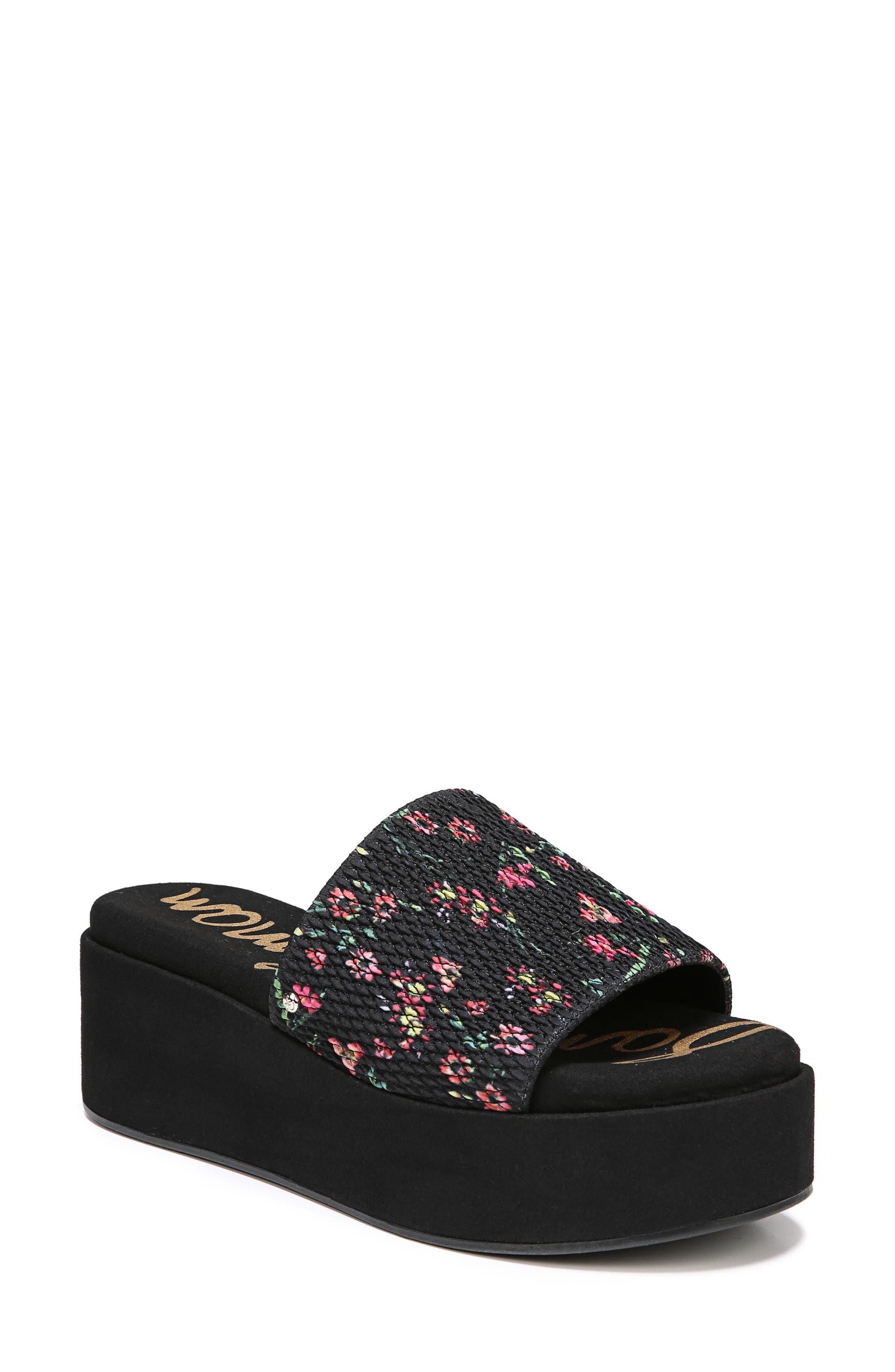 Wendi Platform Slide Sandal,                             Main thumbnail 1, color,                             001