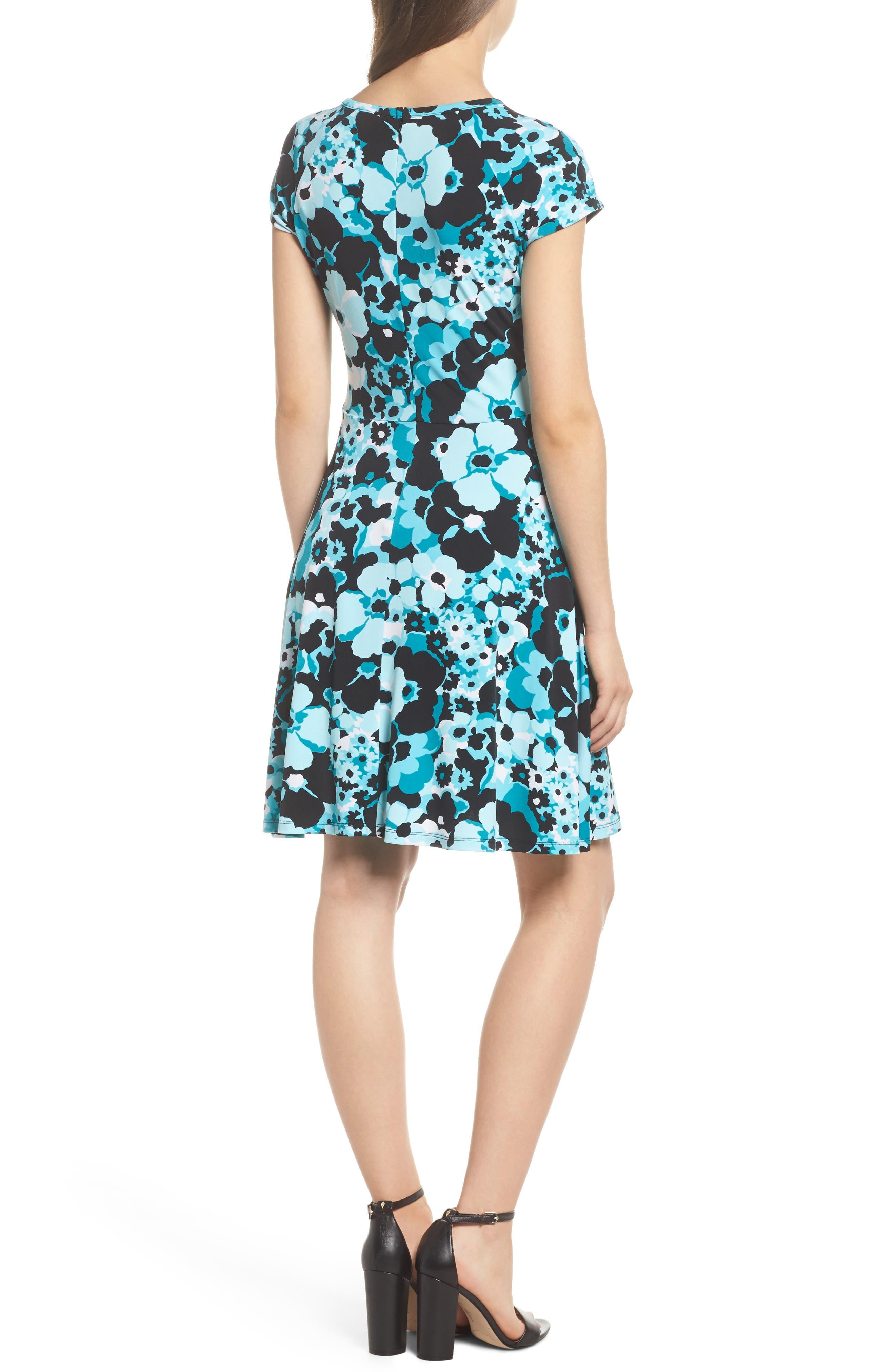 Springtime Floral Cutout Dress,                             Alternate thumbnail 2, color,                             494