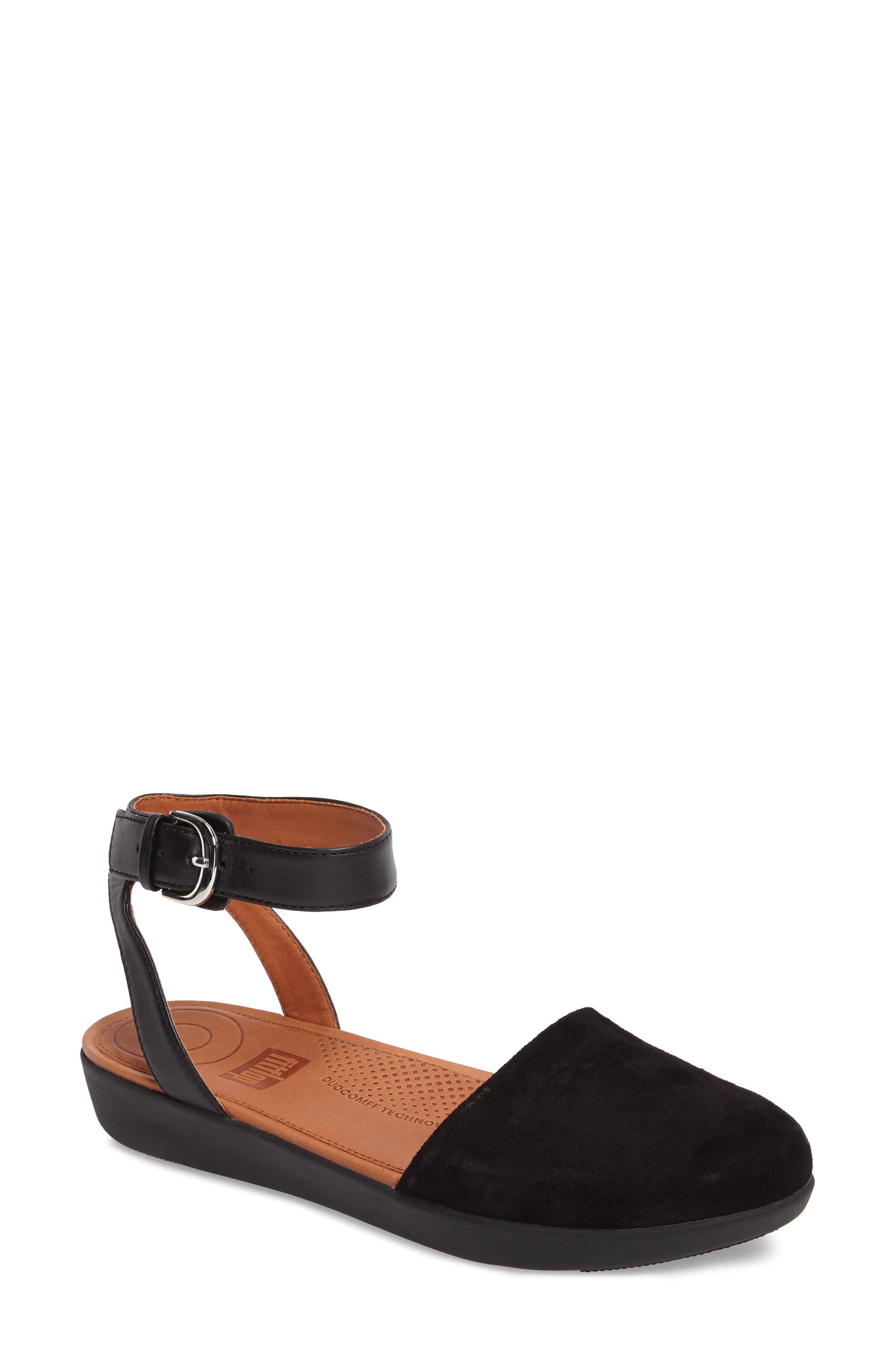Cova Ankle Strap Sandal,                             Main thumbnail 1, color,                             001
