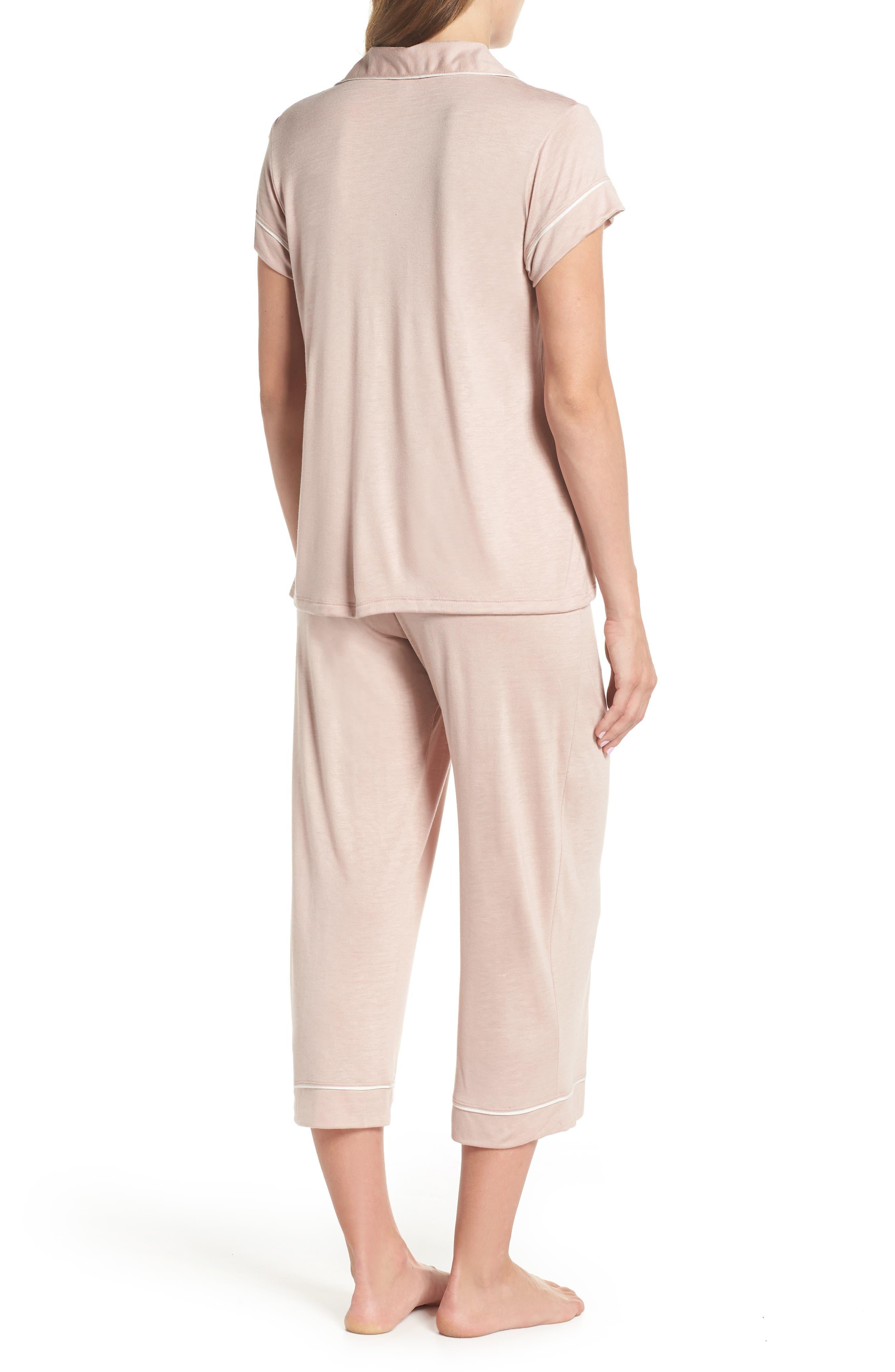 Gisele Crop Pajamas,                             Alternate thumbnail 7, color,