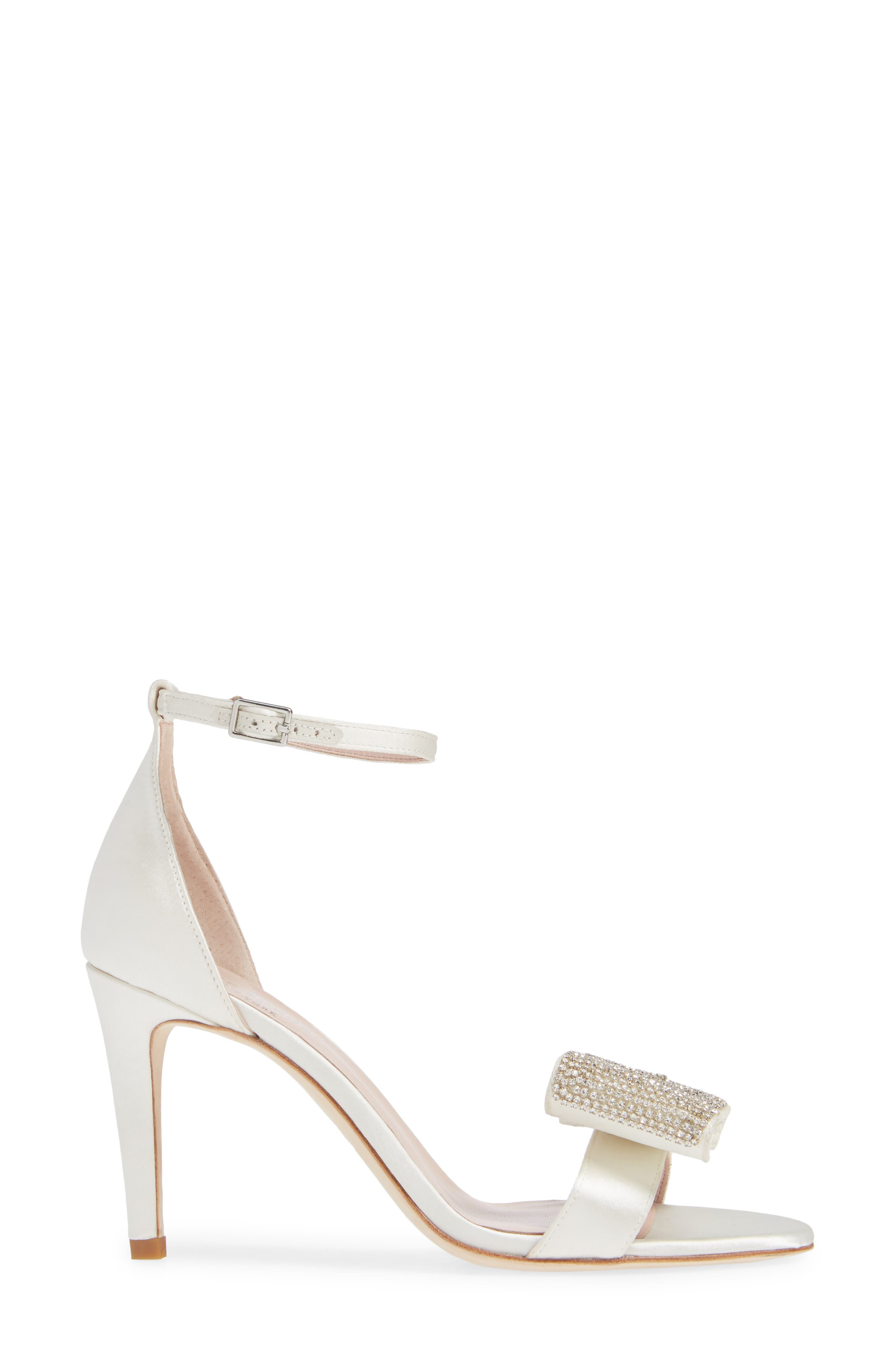 gweneth crystal bow ankle strap sandal,                             Alternate thumbnail 3, color,                             900