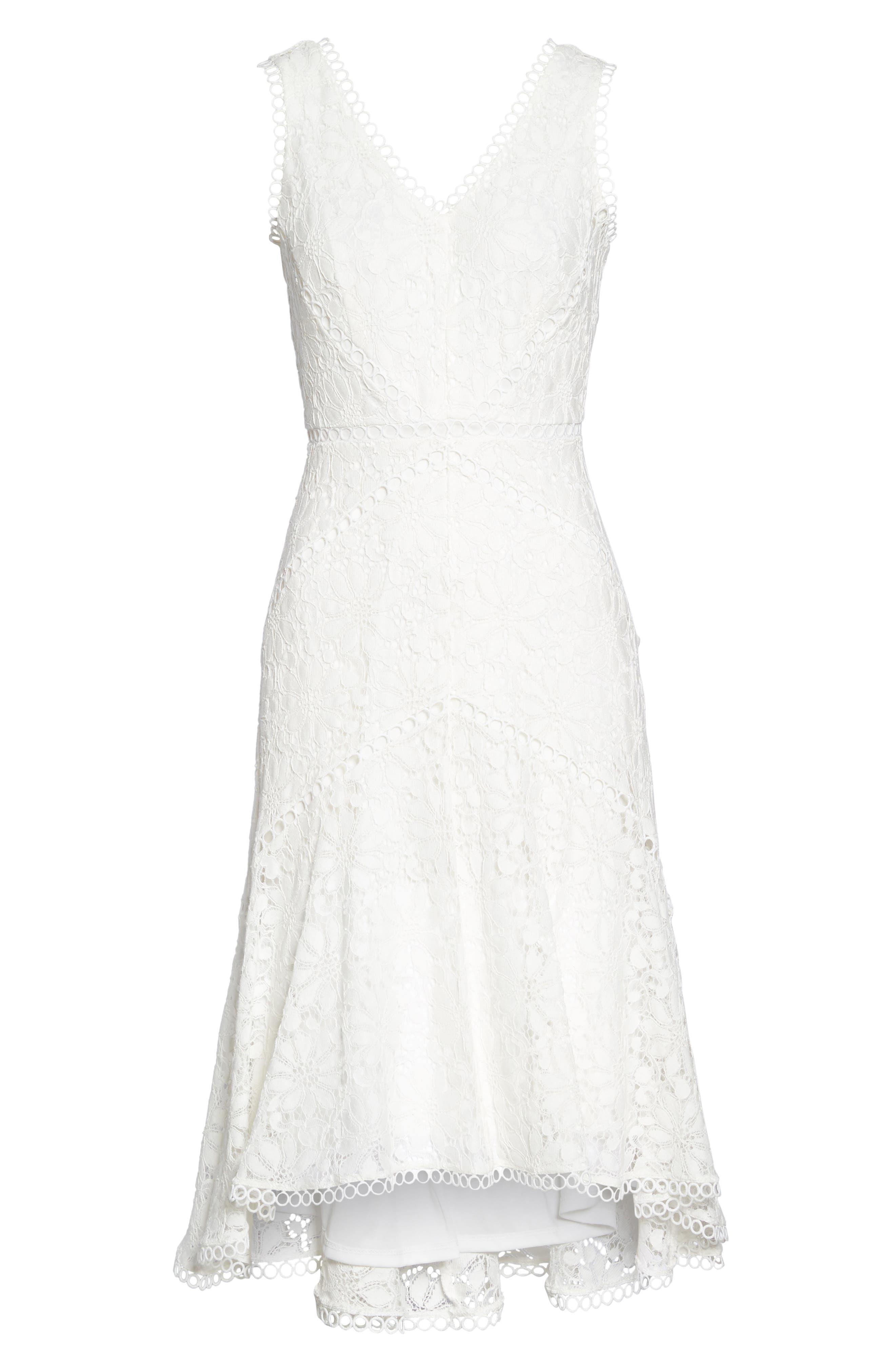 Lace Midi Dress,                             Alternate thumbnail 6, color,                             902