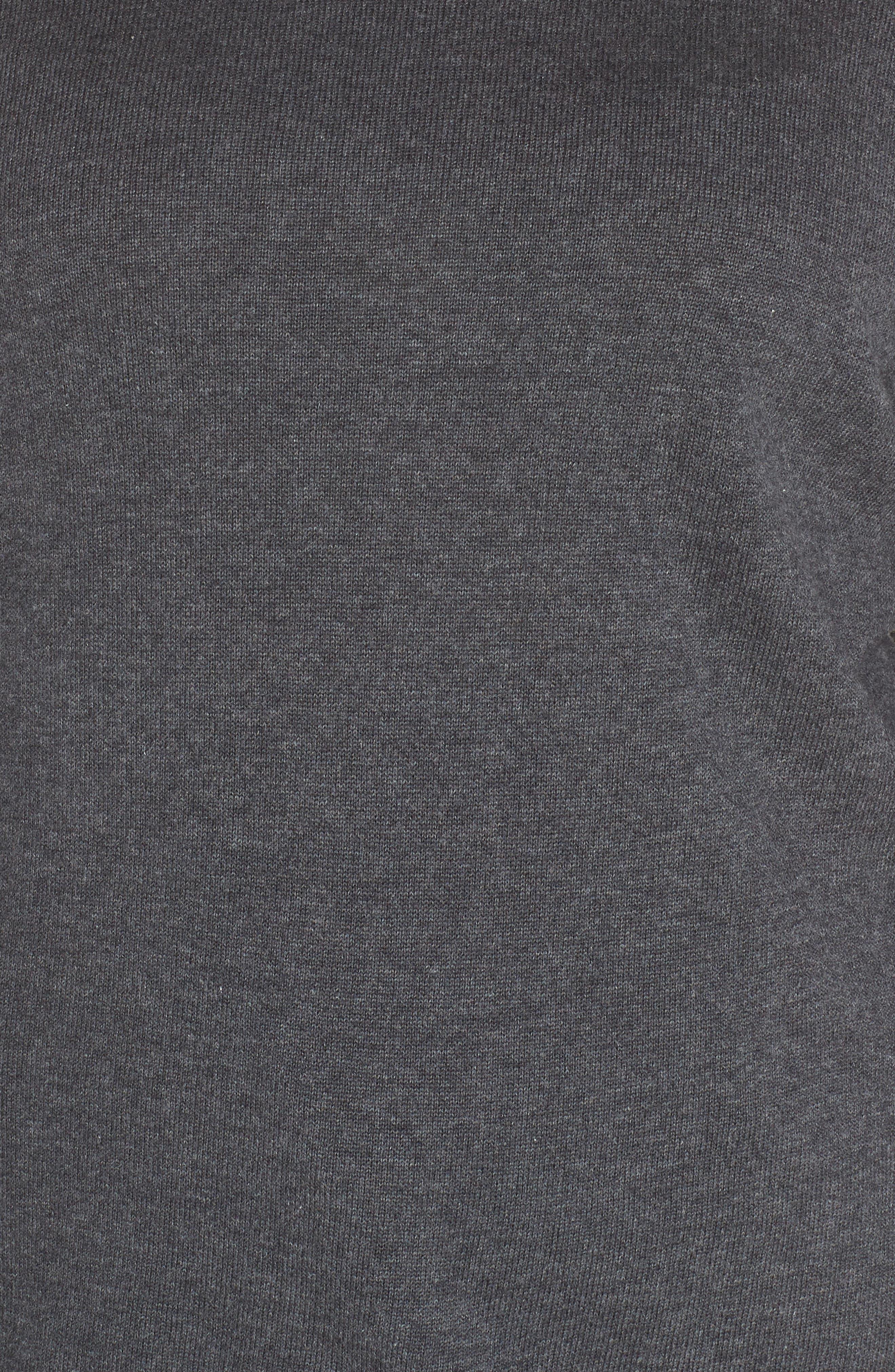 Blouson Sleeve Sweater,                             Alternate thumbnail 7, color,                             MED HEATHER GREY