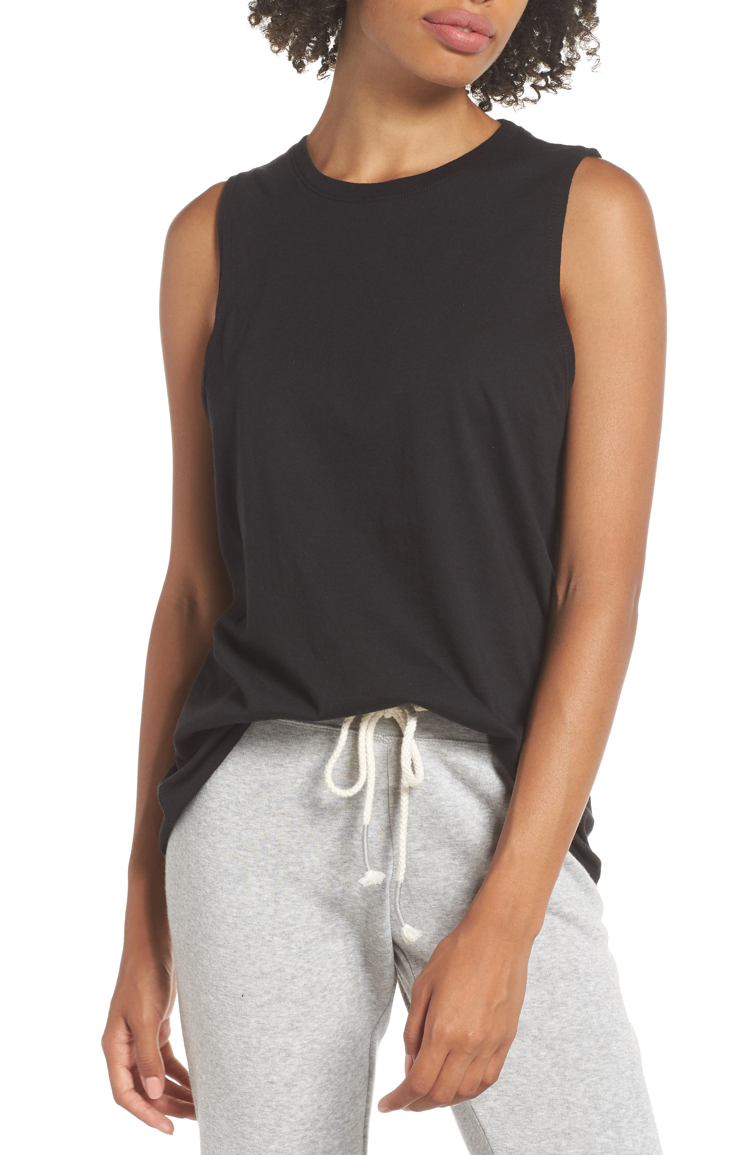 Richer Poorer Muscle Tank, Black