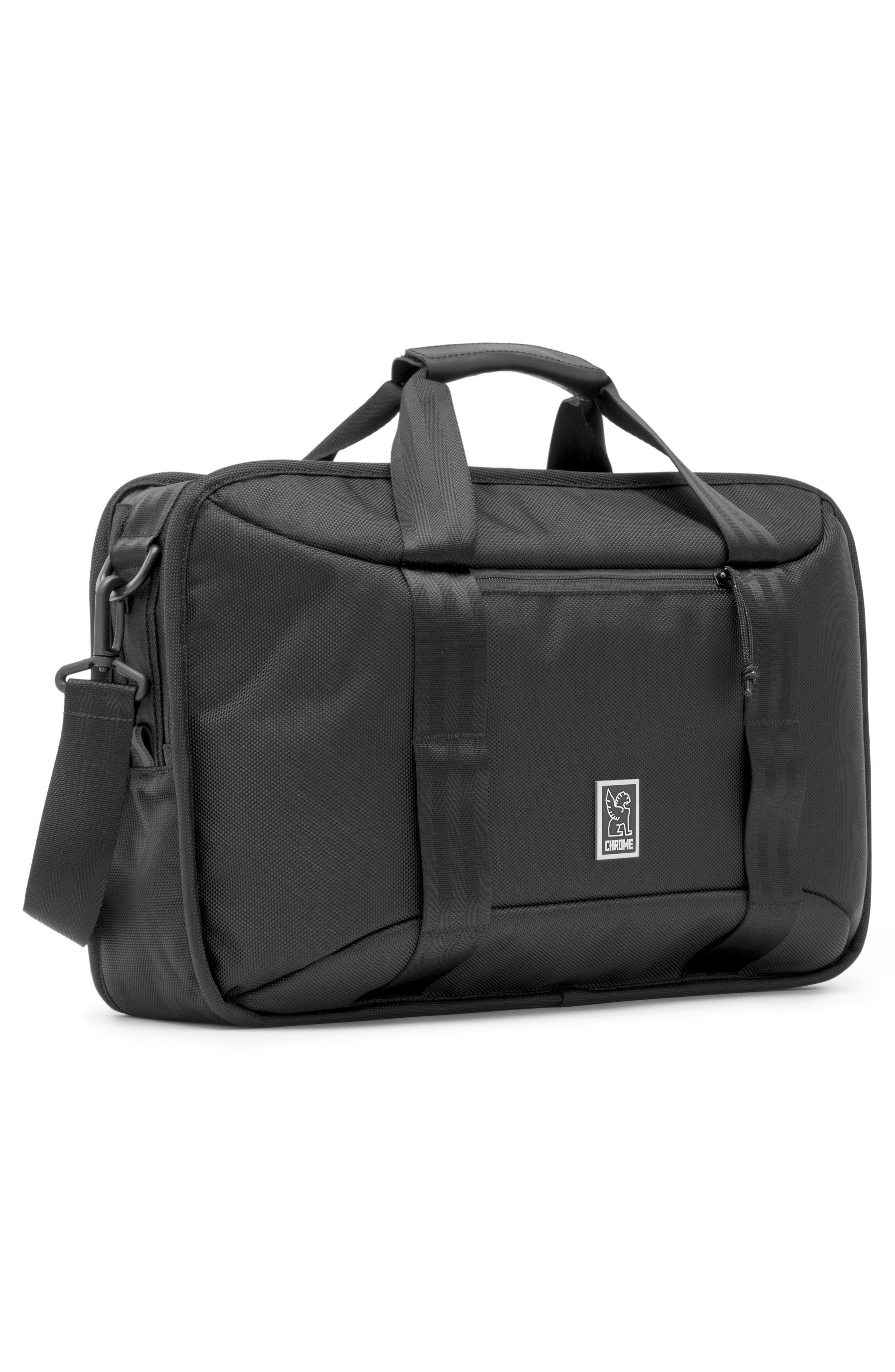 Treadwell Travel Vega Convertible Briefcase,                             Alternate thumbnail 3, color,                             ALL BLACK