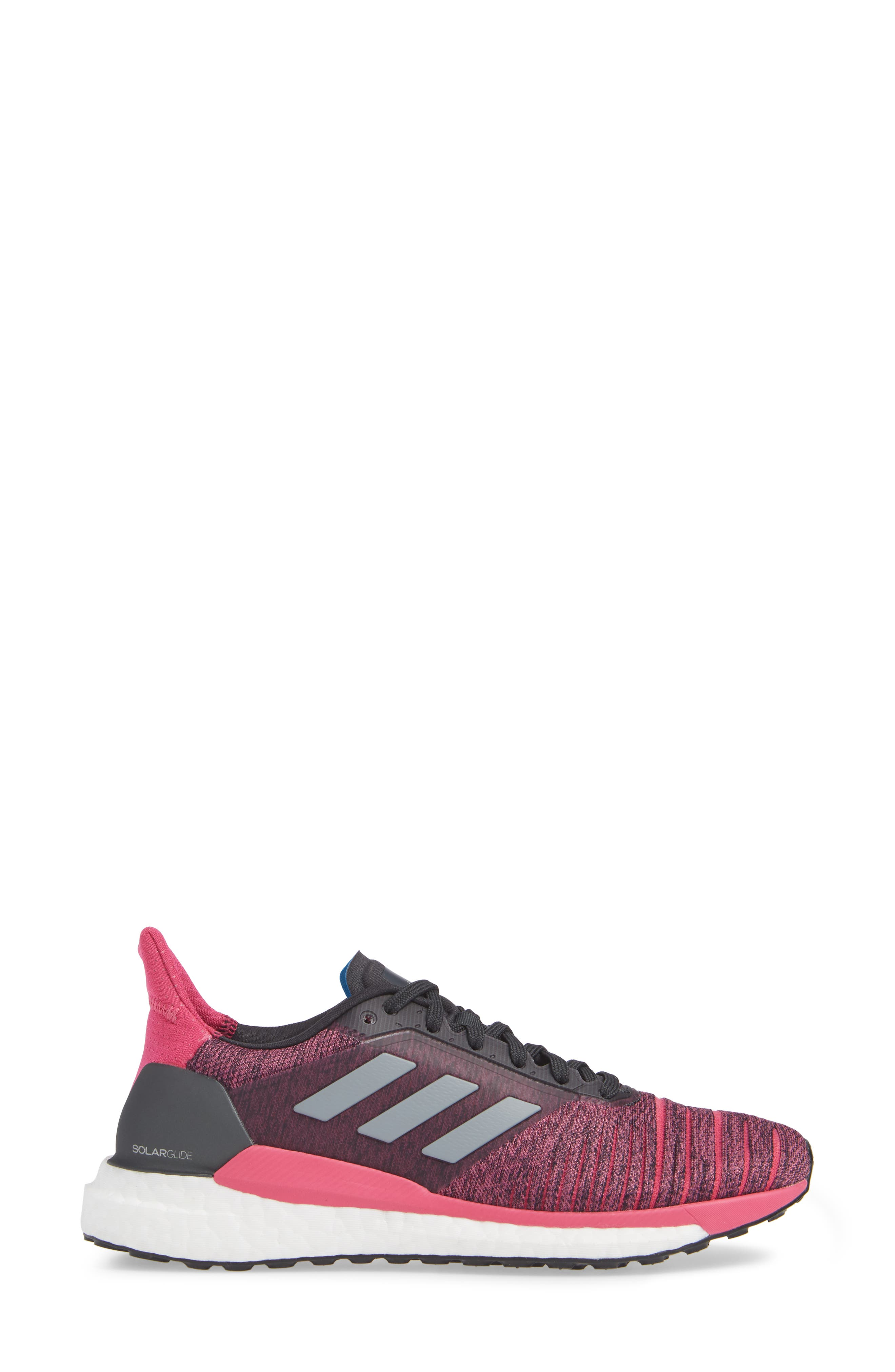 Solar Glide Running Shoe,                             Alternate thumbnail 3, color,                             CARBON/ GREY THREE/ MAGENTA