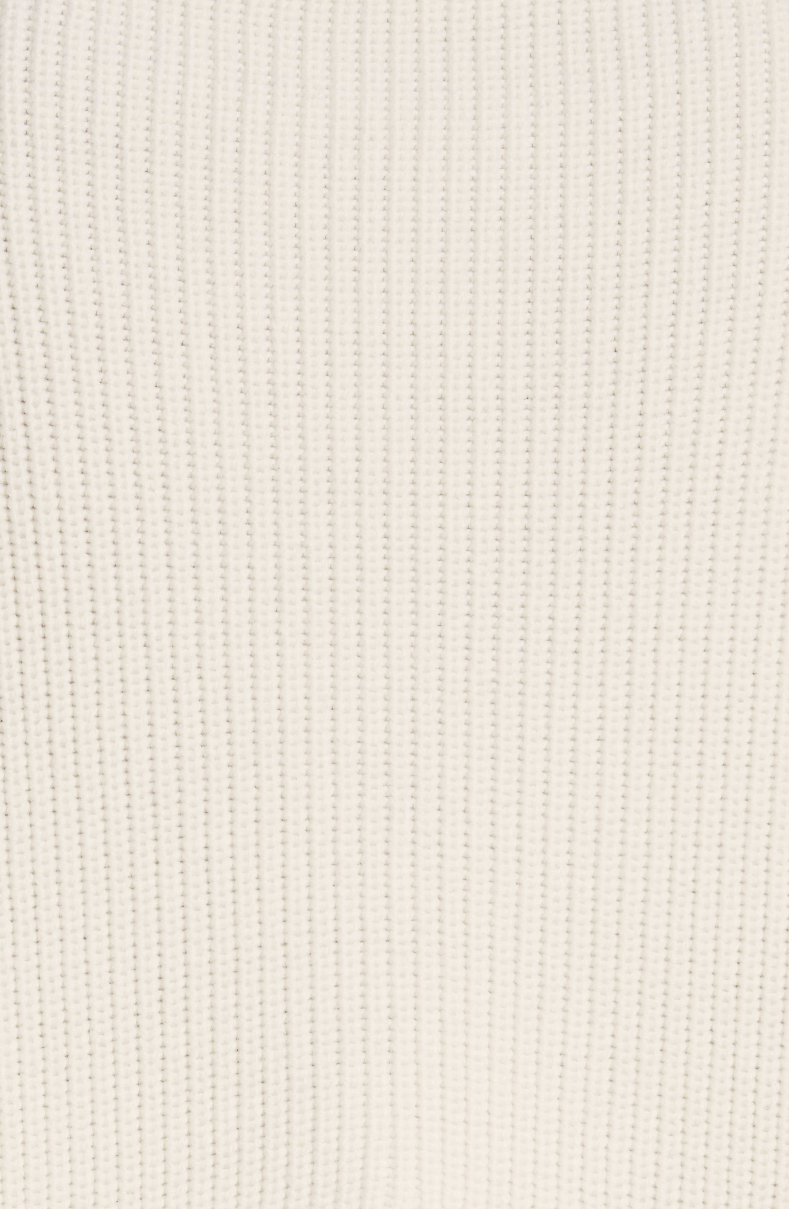 Slit Back Virgin Wool Blend Sweater,                             Alternate thumbnail 5, color,                             108