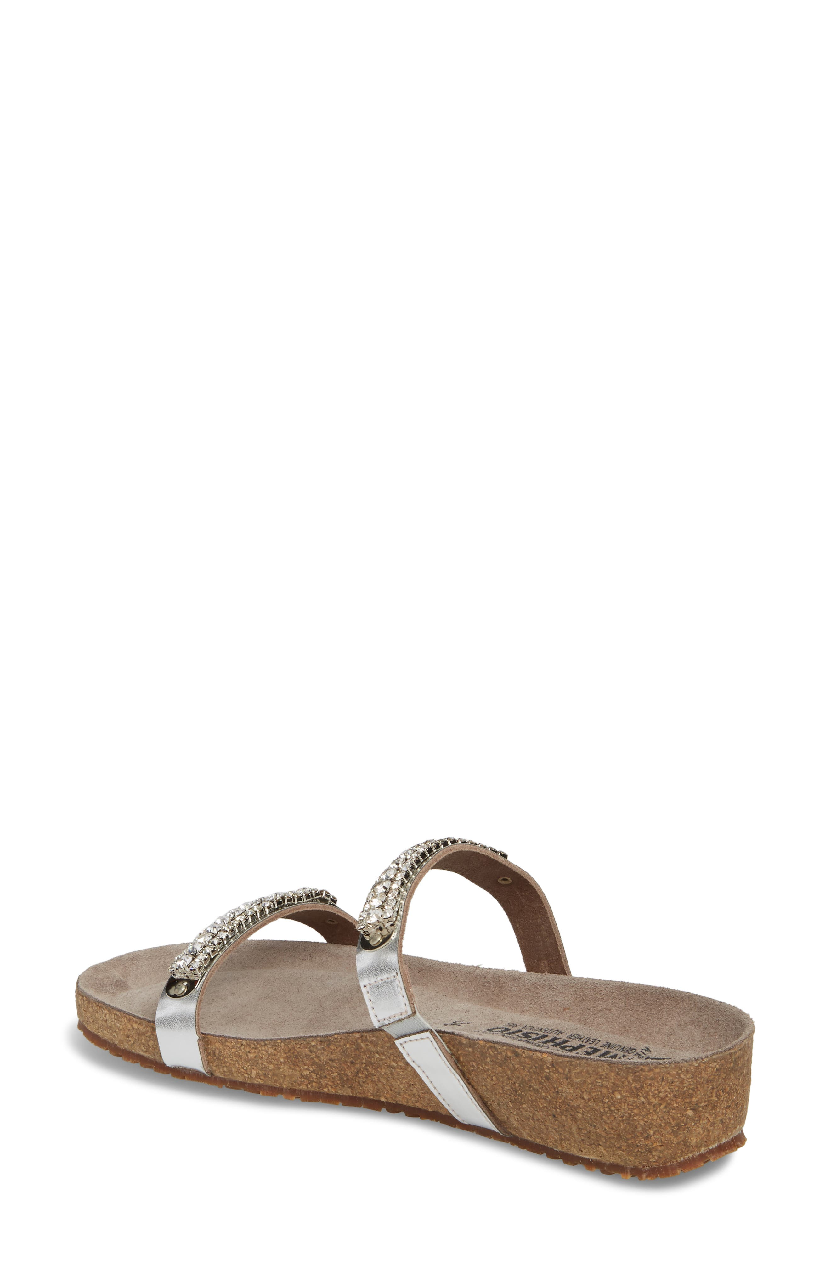 'Ivana' Crystal Embellished Slide Sandal,                             Alternate thumbnail 2, color,                             082