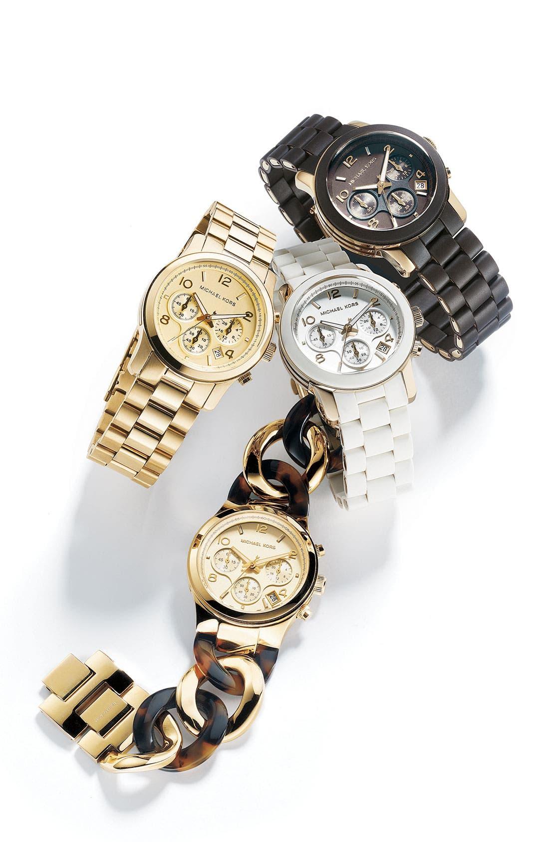 Michael Kors Chain Bracelet Chronograph Watch, 38mm,                             Alternate thumbnail 12, color,