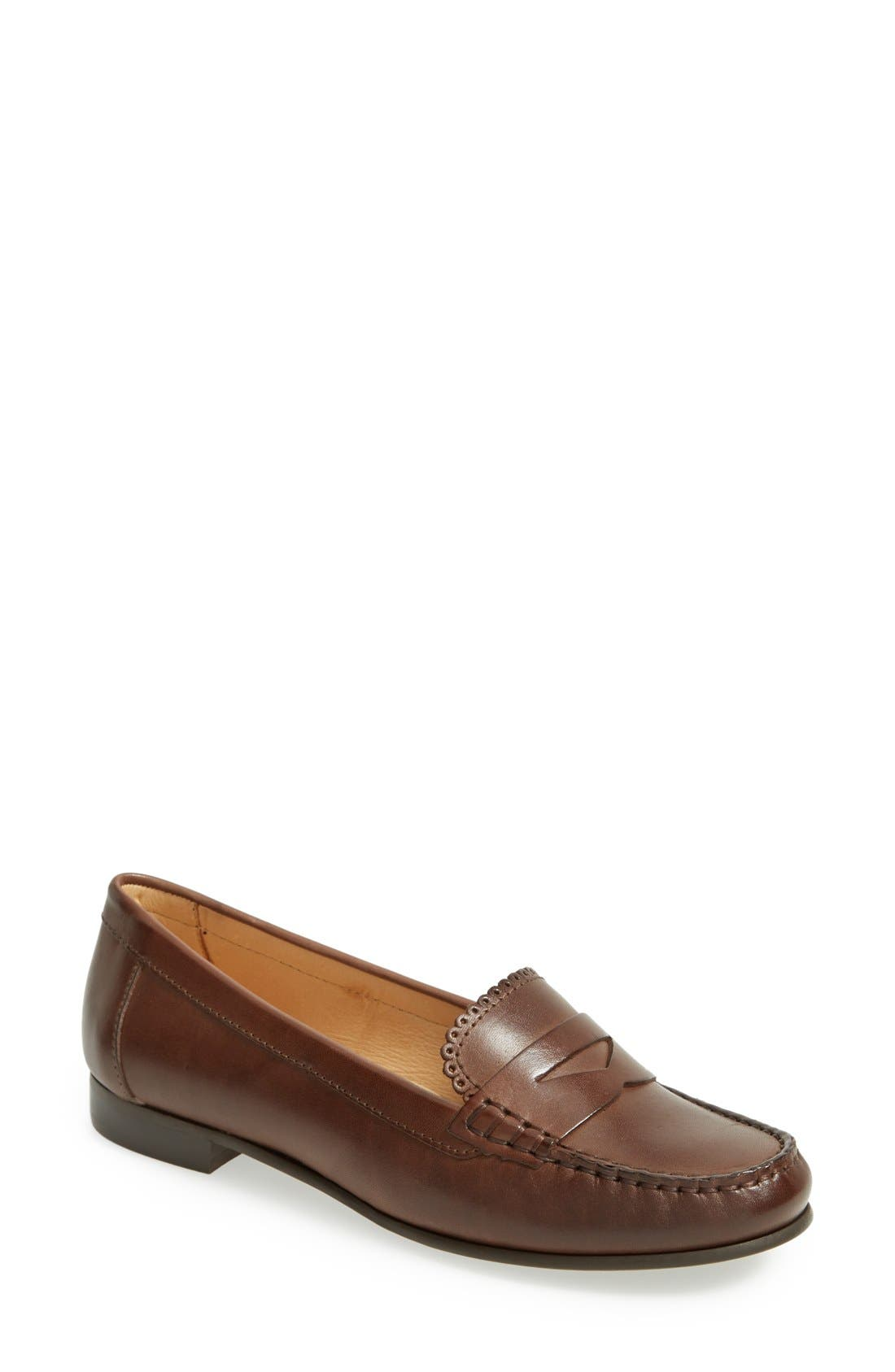 'Quinn' Leather Loafer,                             Main thumbnail 3, color,
