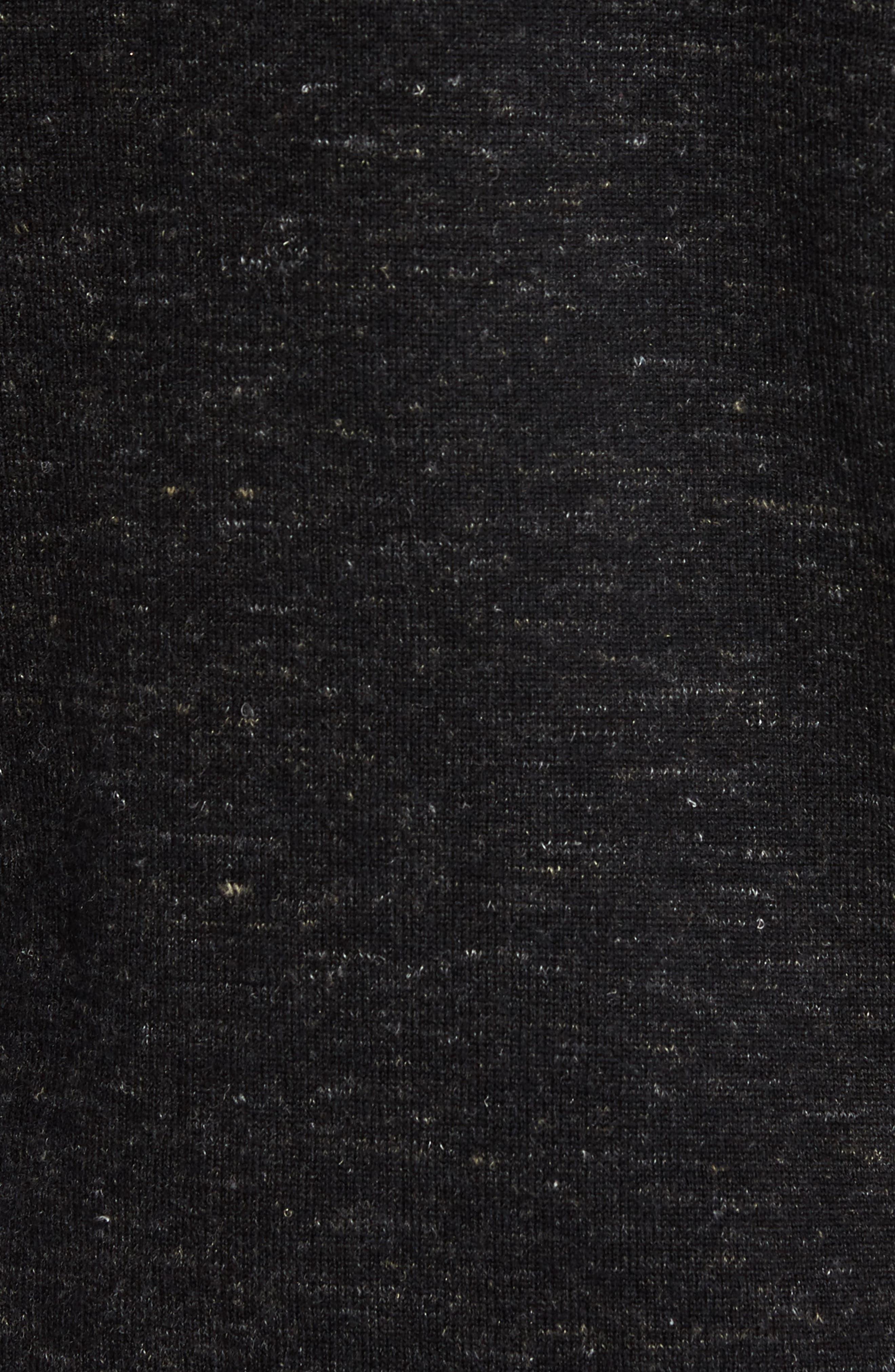 Long Sleeve V-Neck Sweater,                             Alternate thumbnail 5, color,                             001