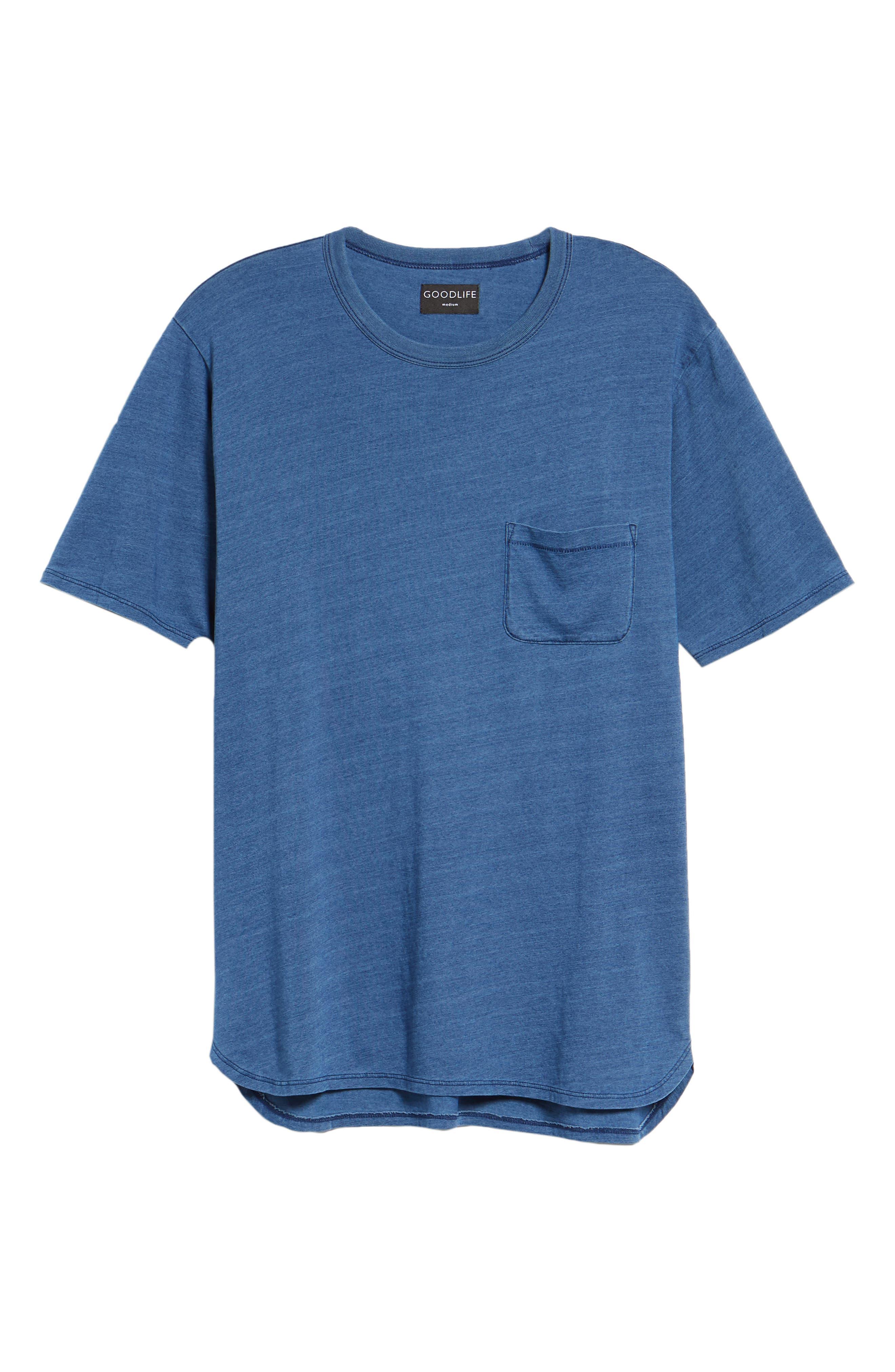 Split Hem Crewneck T-Shirt,                             Alternate thumbnail 6, color,                             432