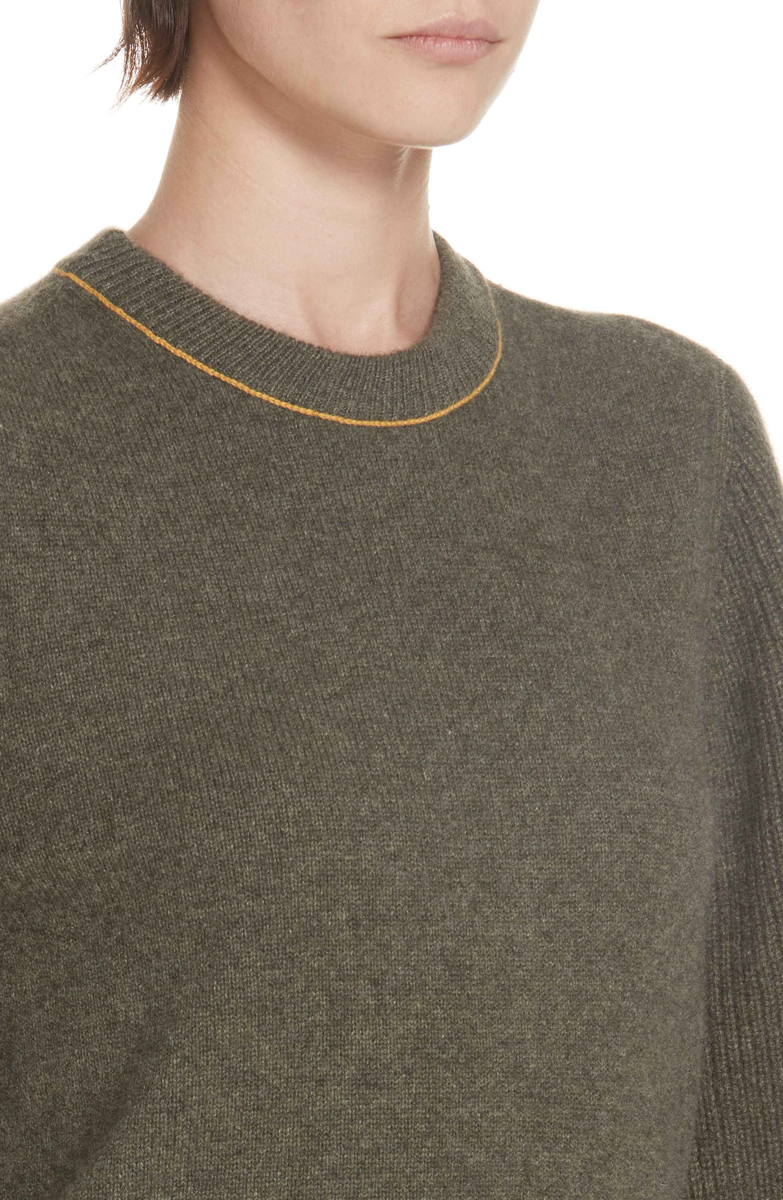Yorke Cashmere Sweater,                             Alternate thumbnail 4, color,                             ARMY