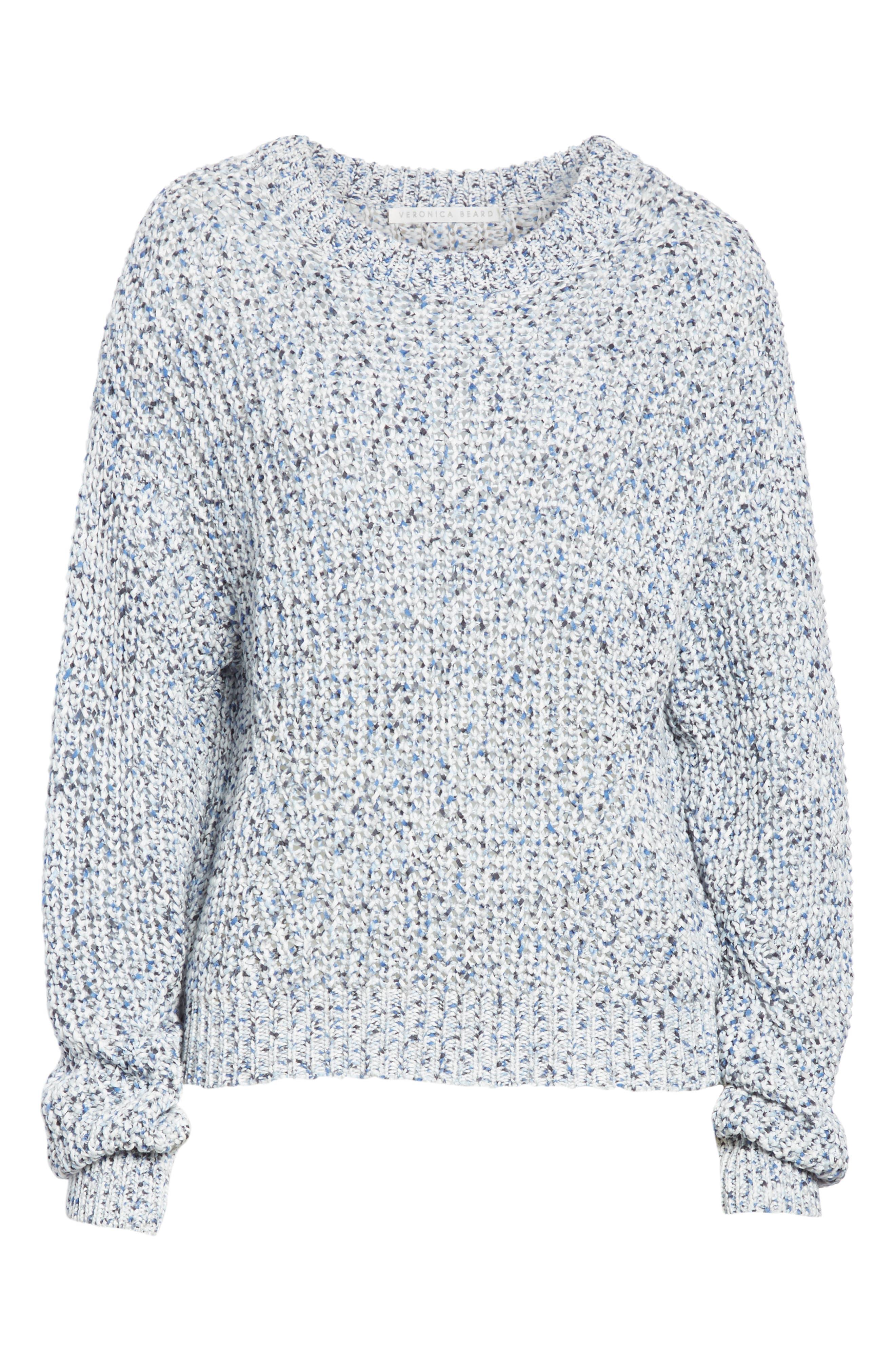 Ryce Cotton Sweater,                             Alternate thumbnail 6, color,                             BLUE MULIT