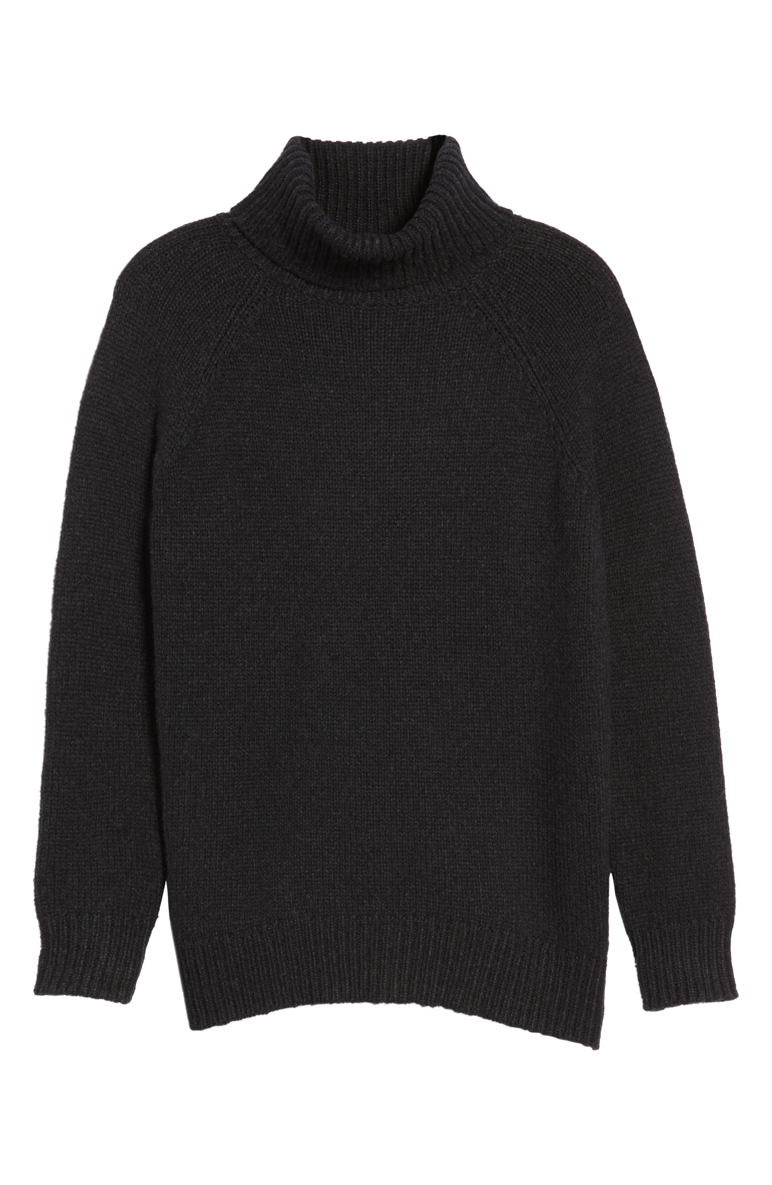 Textured Turtleneck Sweater,                             Alternate thumbnail 6, color,                             025