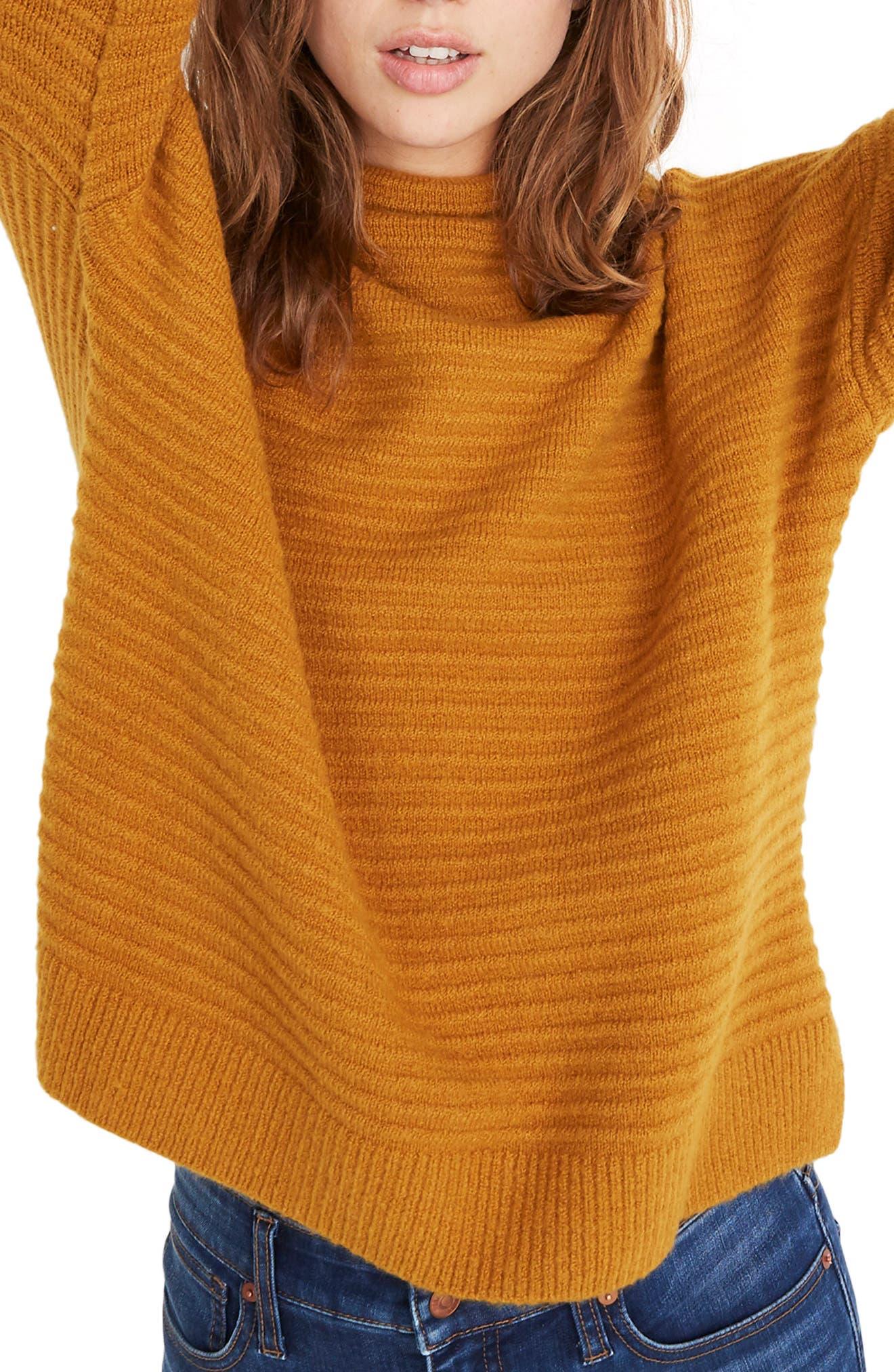 Belmont Mock Neck Sweater, Main, color, GOLDEN HARVEST