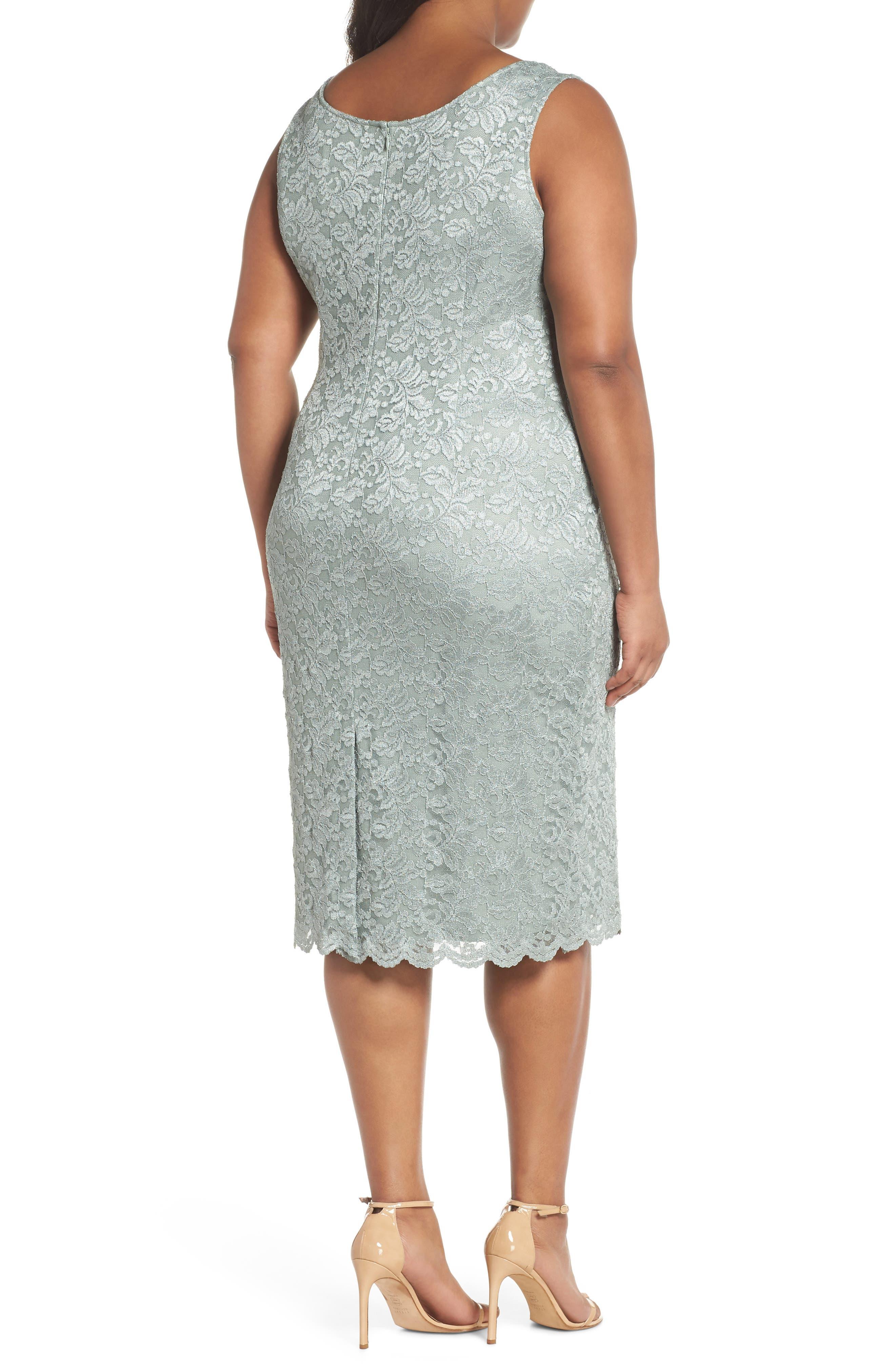 Lace Sheath Dress & Jacket,                             Alternate thumbnail 4, color,                             357