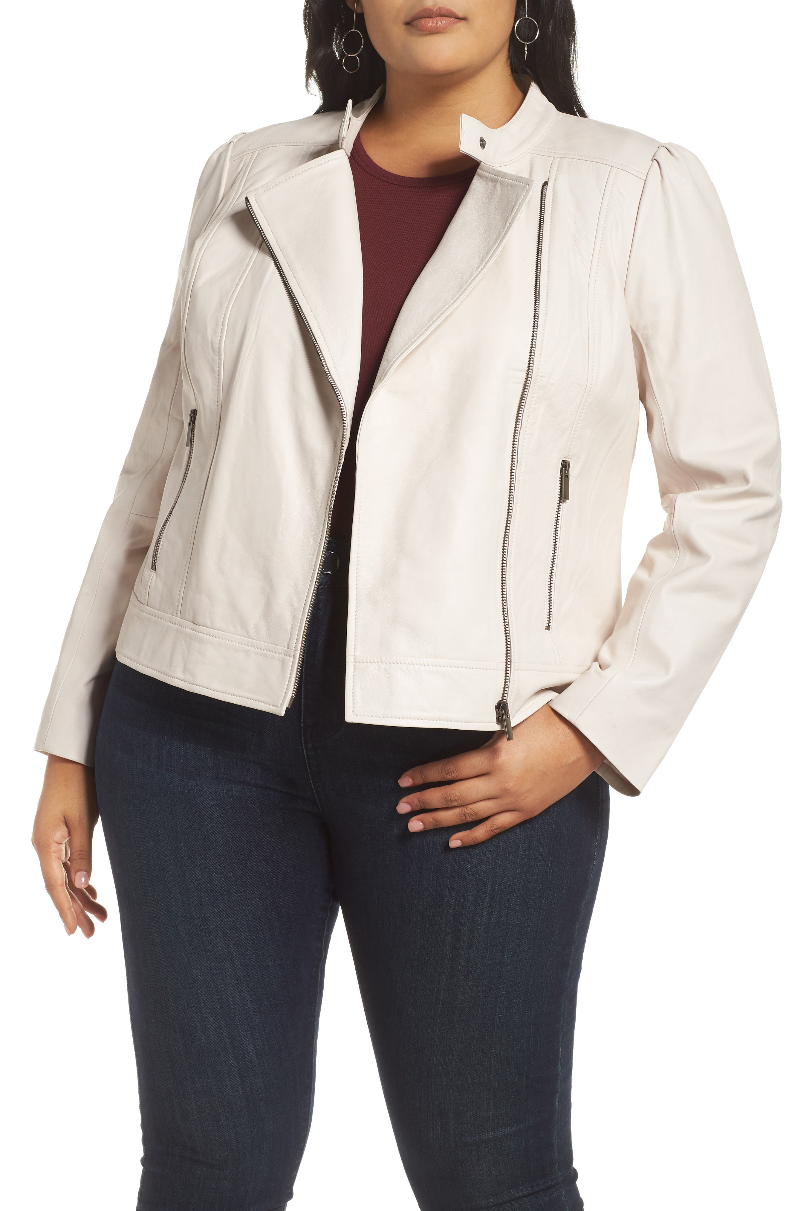 Asymmetrical Front Zip Jacket,                         Main,                         color, PINK HUSH