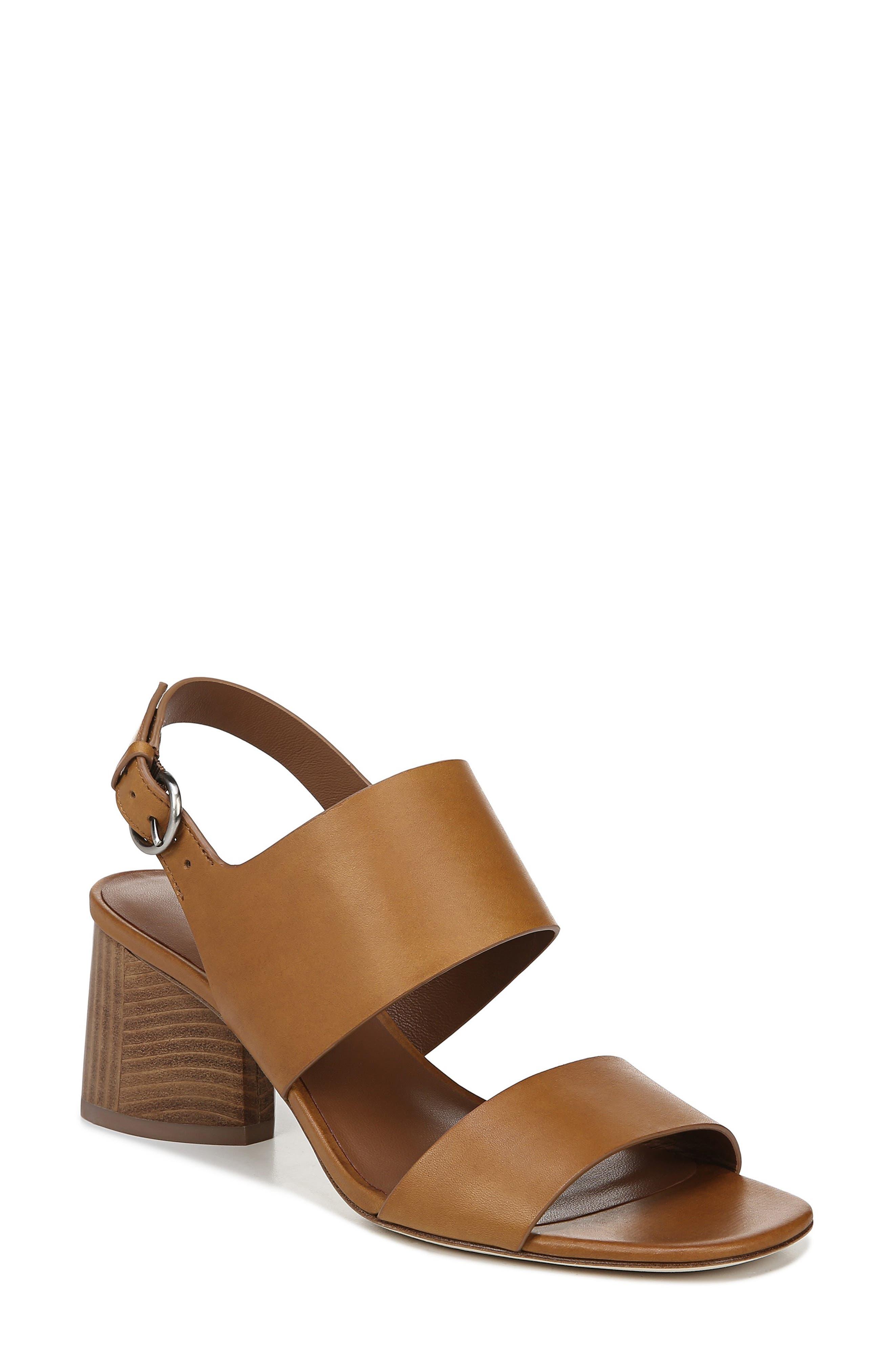 VIA SPIGA Libby Statement Heel Sandal, Main, color, TAN