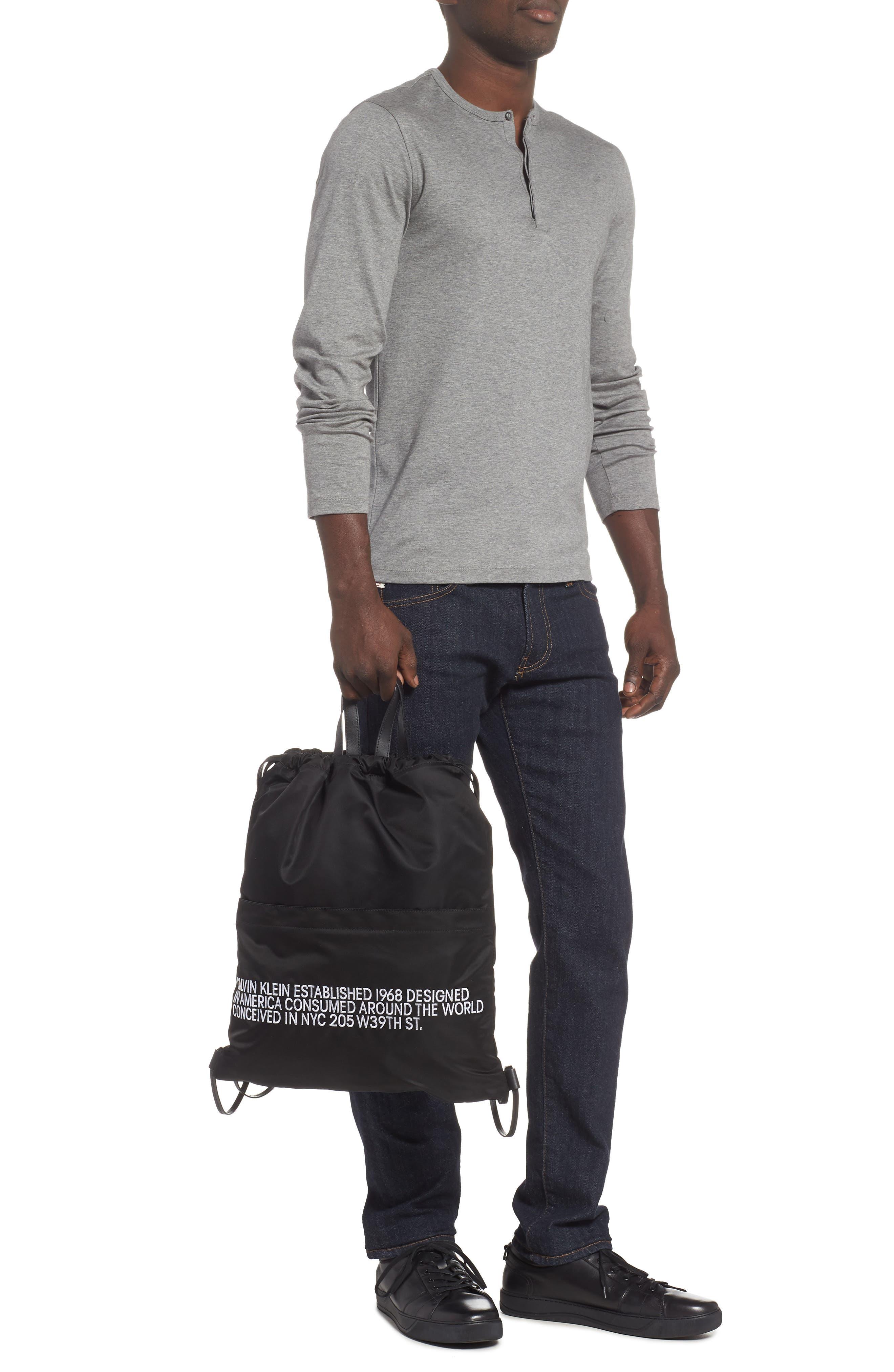 Drawstring Backpack,                             Alternate thumbnail 2, color,                             BLACK