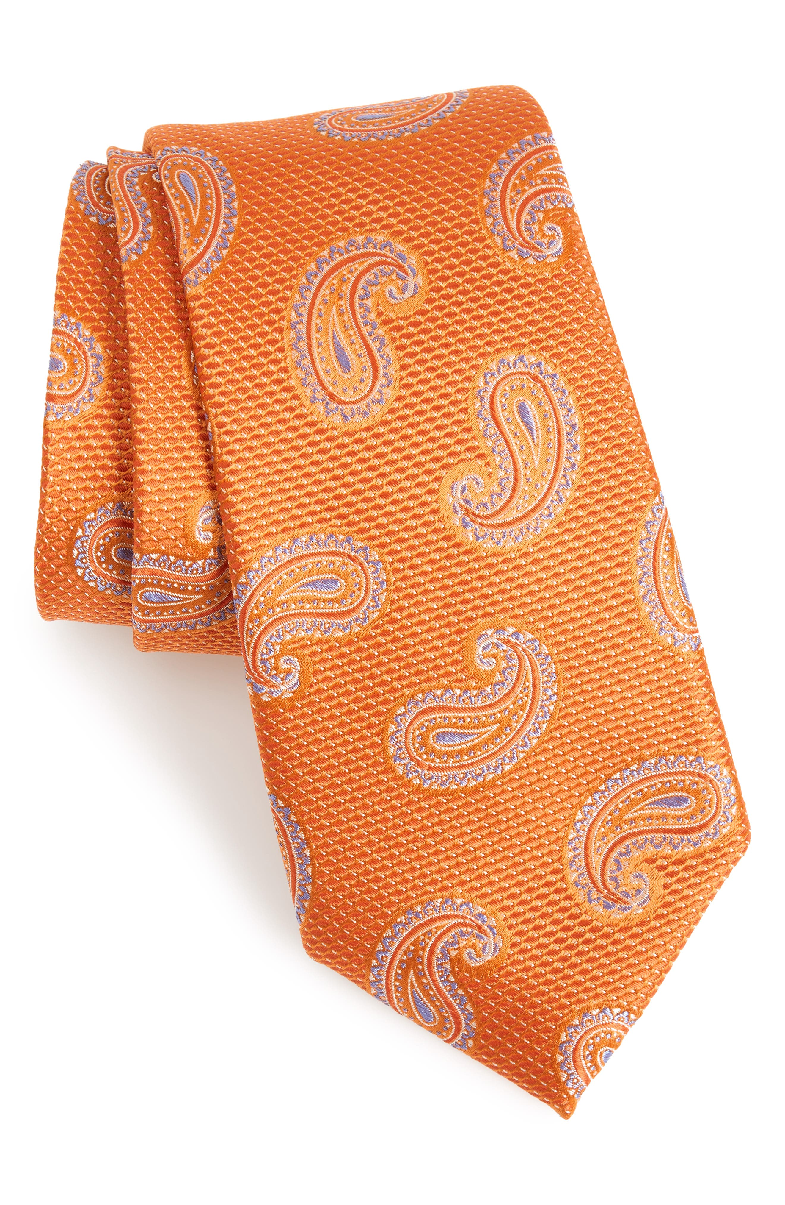 Jerome Paisley Silk Tie,                             Main thumbnail 5, color,