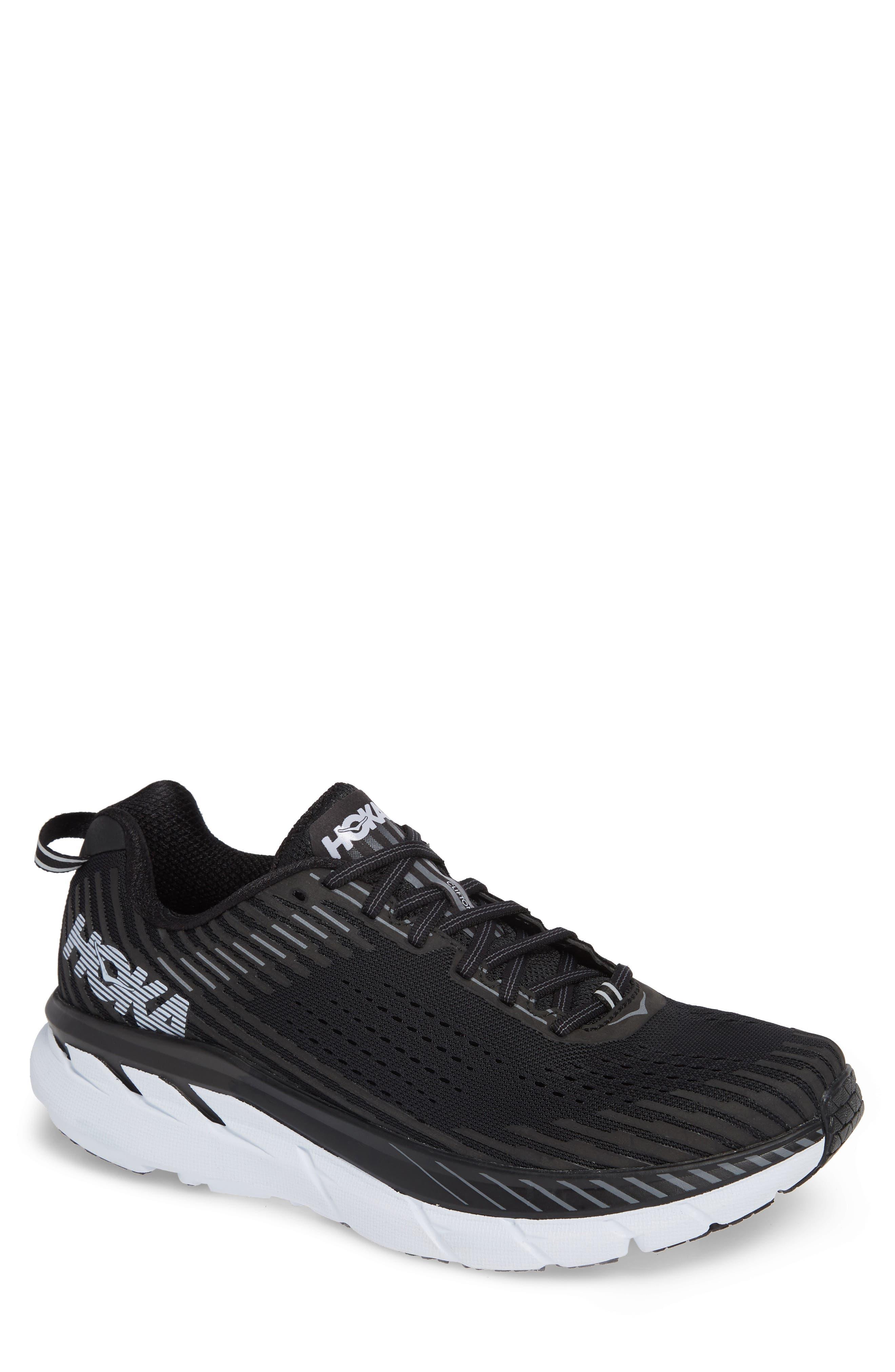 Clifton 5 Running Shoe,                             Main thumbnail 1, color,                             BLACK/ WHITE