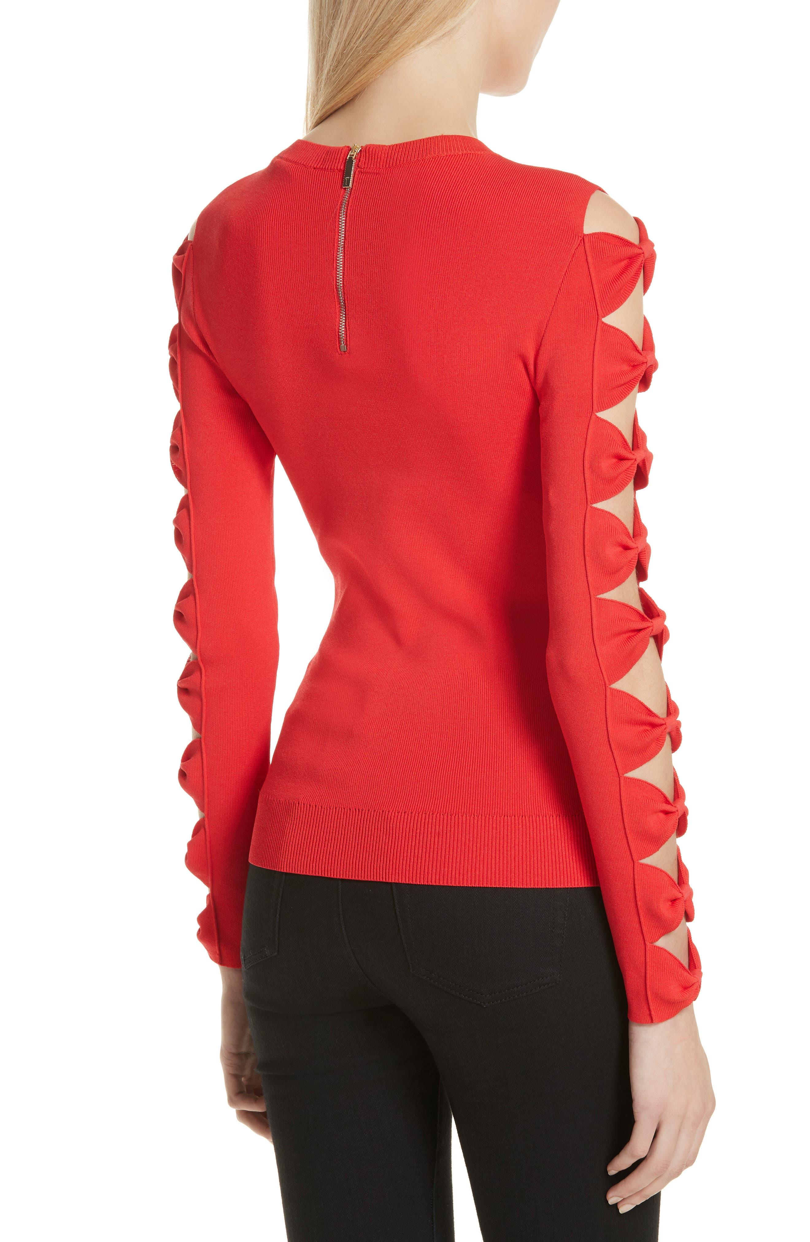 Yonoh Cutout Sleeve Sweater,                             Alternate thumbnail 2, color,                             600
