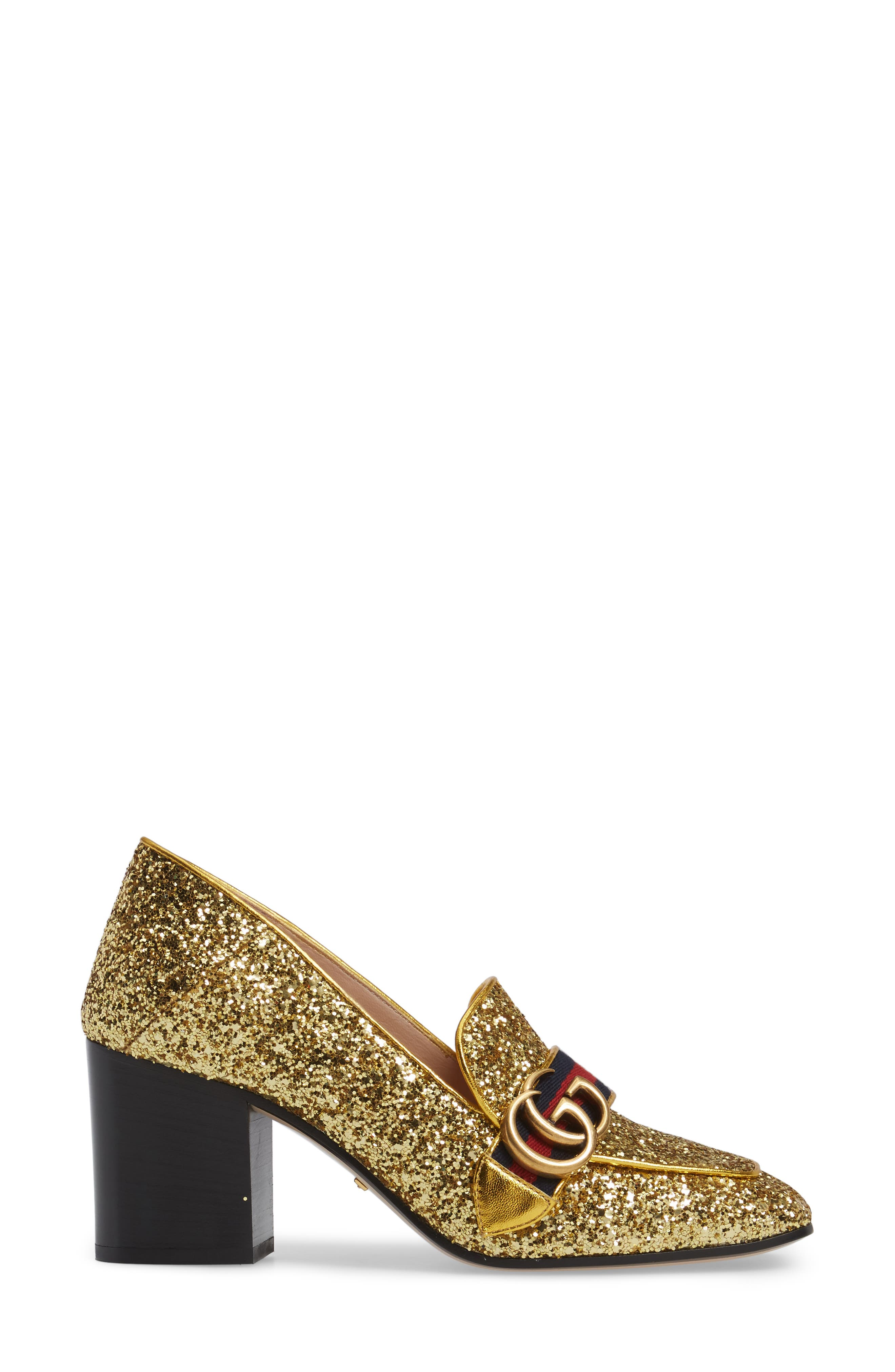 Glitter Peyton Loafer Pump,                             Alternate thumbnail 4, color,
