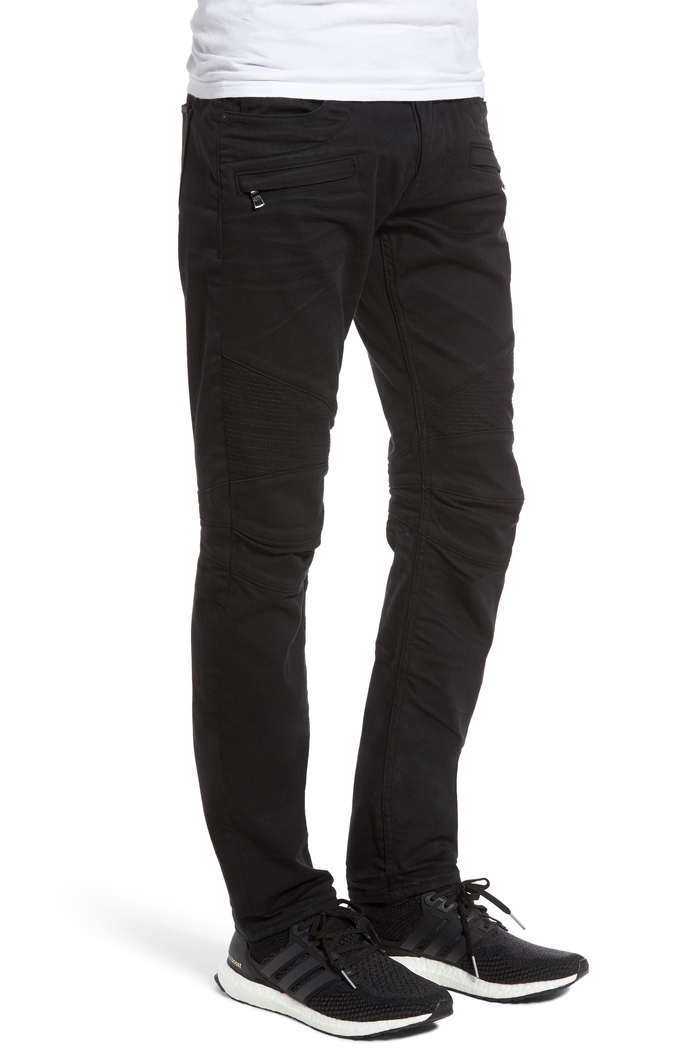 Blinder Biker Skinny Fit Jeans,                             Alternate thumbnail 3, color,                             BLACKLIGHT