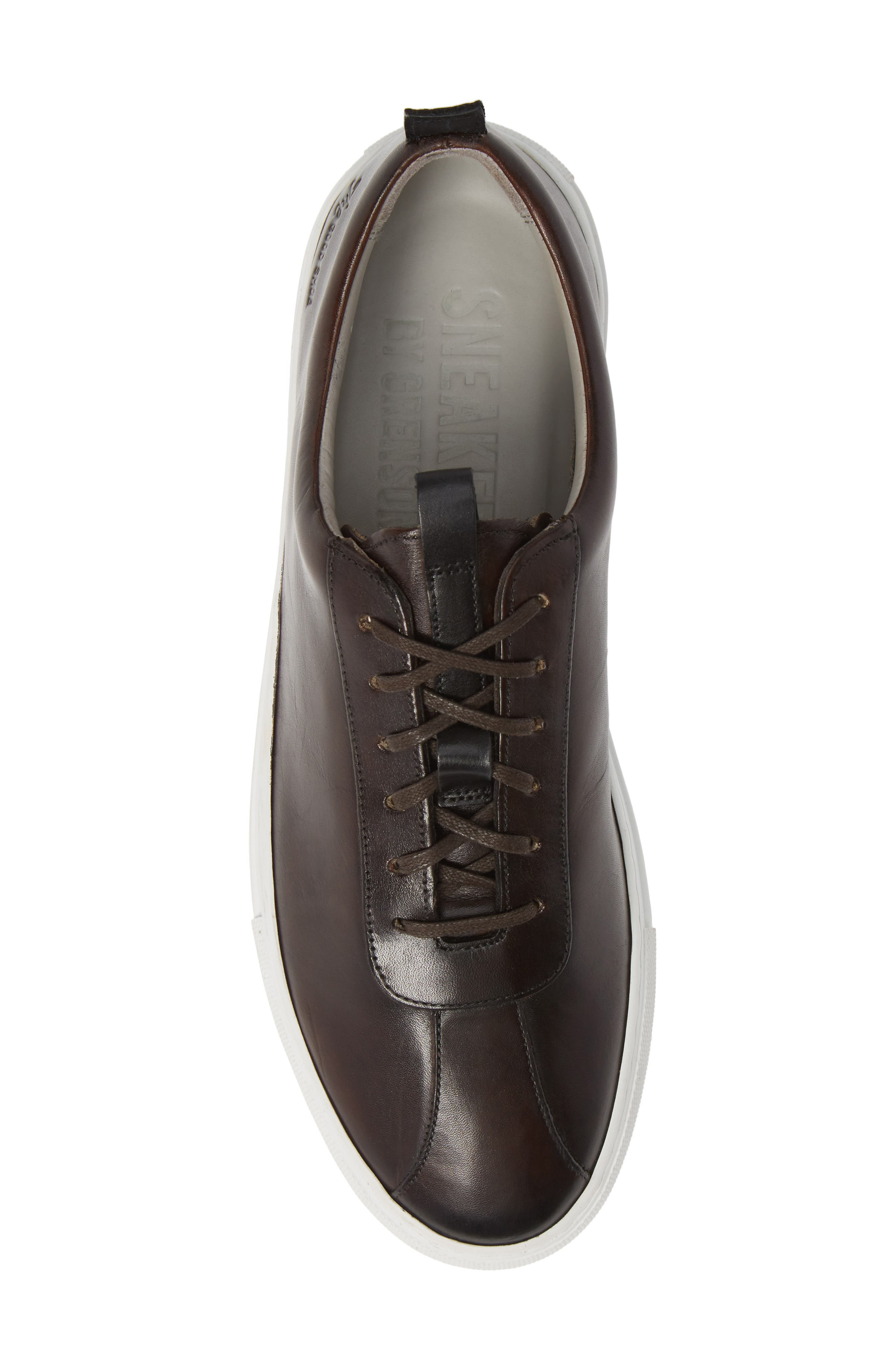 GRENSON,                             Low Top Sneaker,                             Alternate thumbnail 5, color,                             BROWN HAND PAINTED
