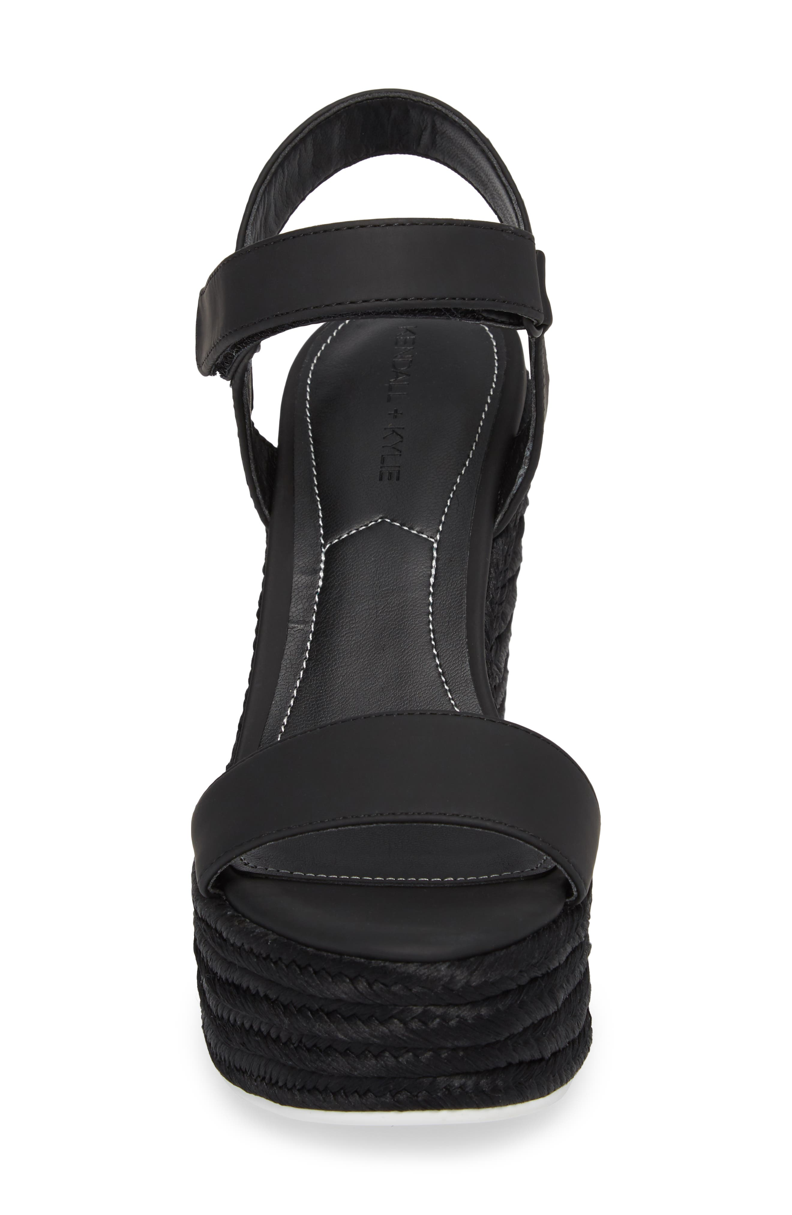 Grand Sport Espadrille Wedge Sandal,                             Alternate thumbnail 4, color,                             BLACK