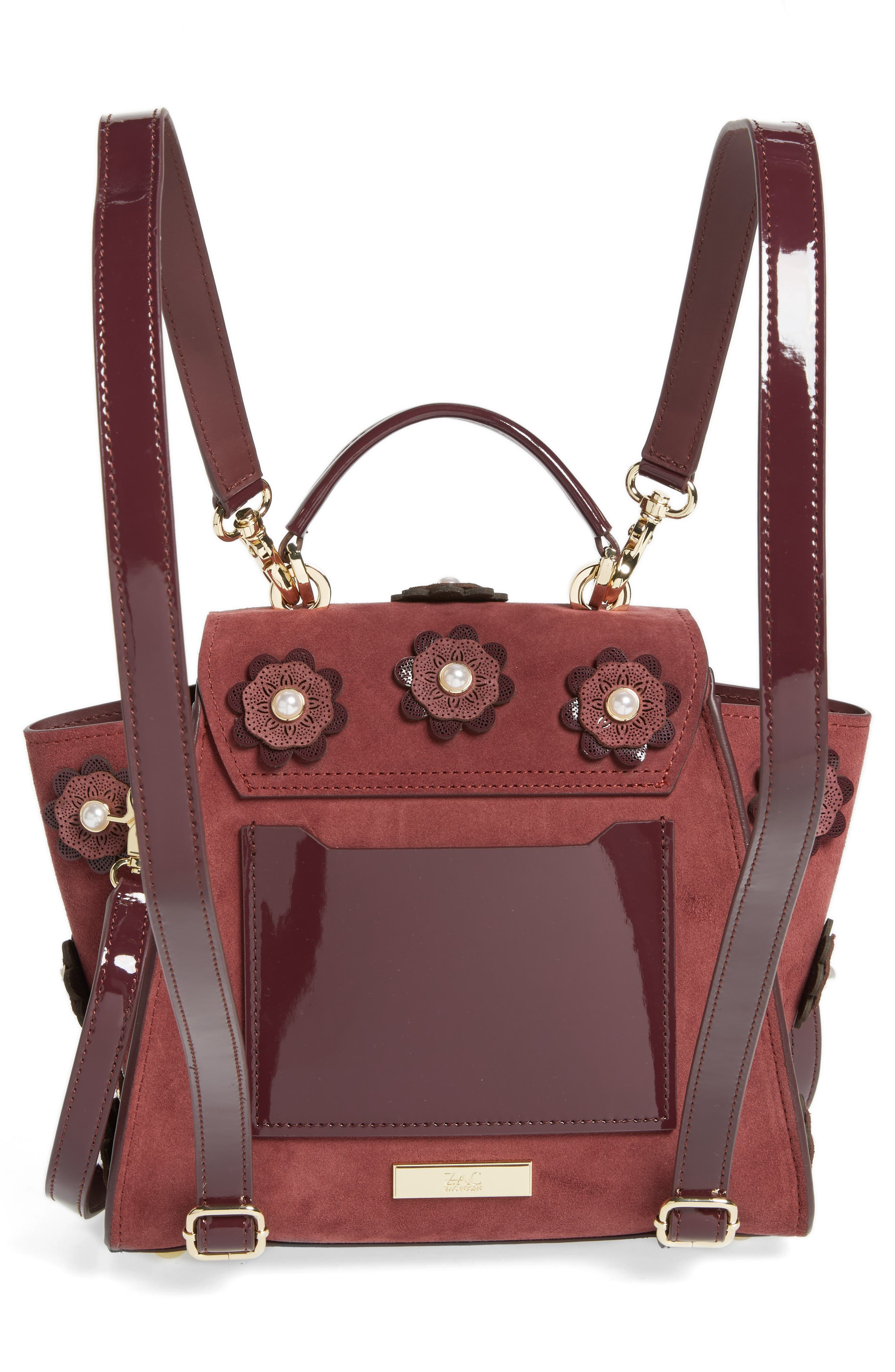 Eartha Iconic Convertible Leather Backpack,                             Alternate thumbnail 8, color,