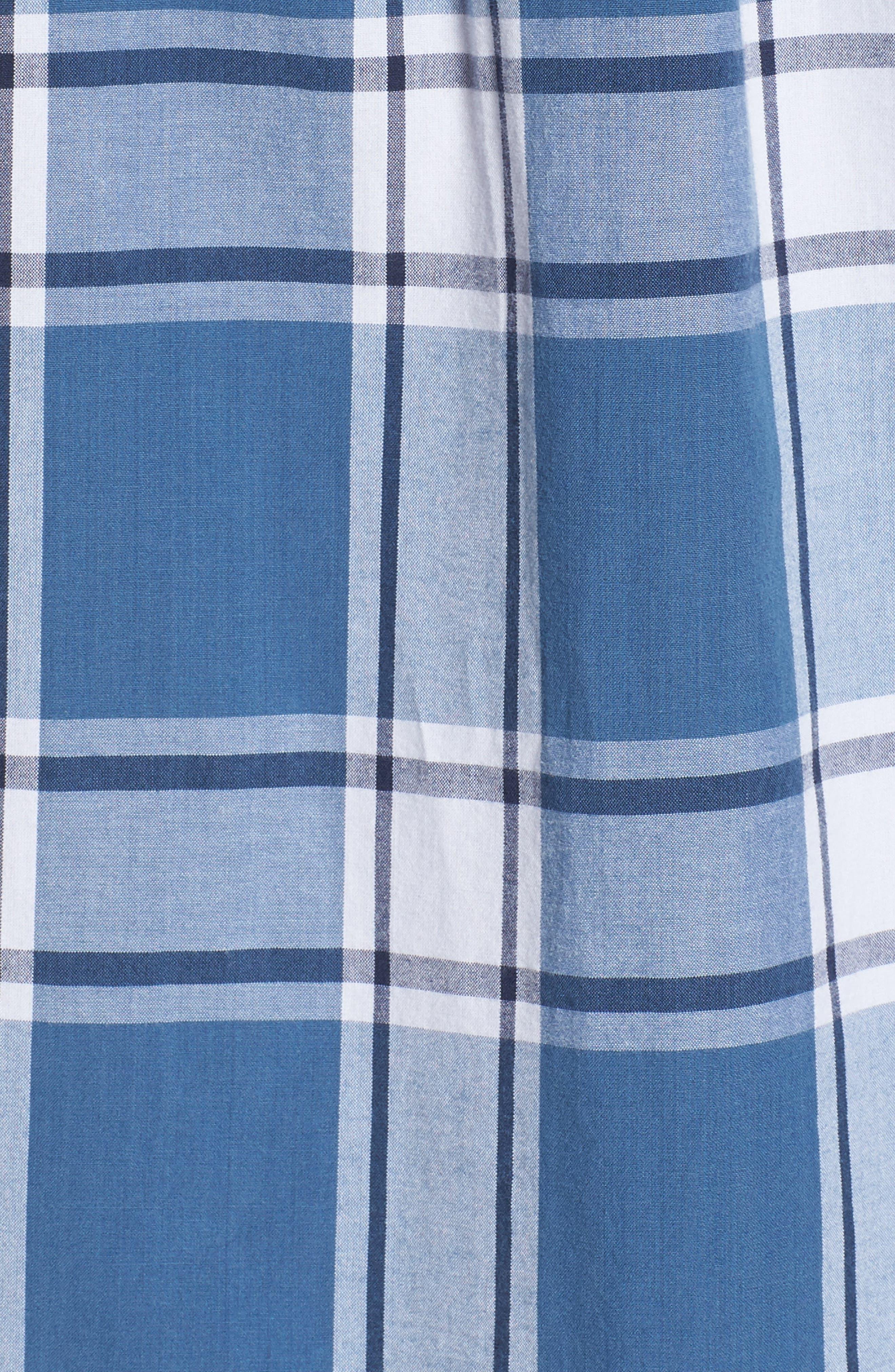 Mayfield Short Sleeve Plaid Shirt,                             Alternate thumbnail 5, color,                             420