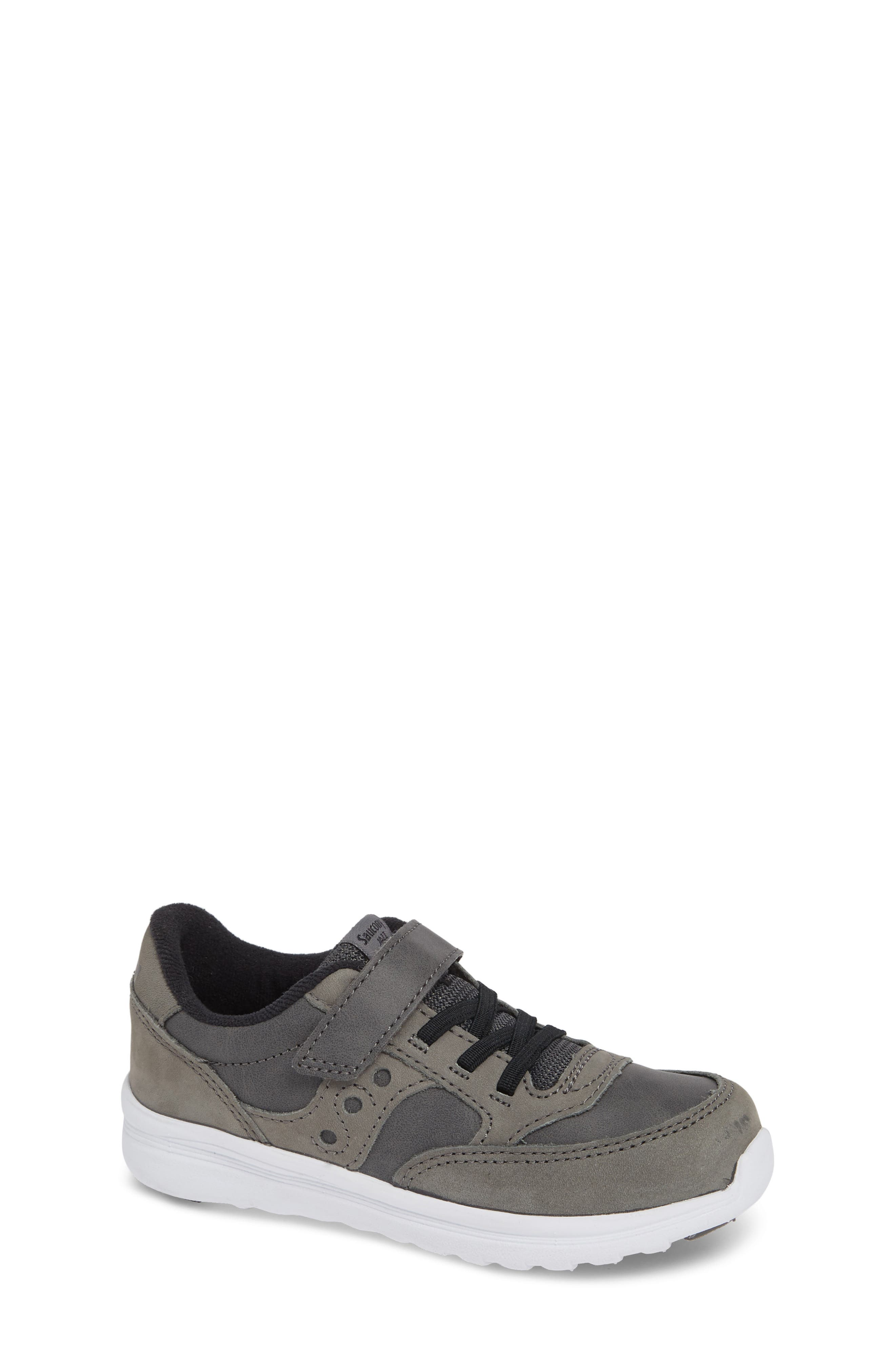 'Baby Jazz - Lite' Sneaker,                             Main thumbnail 1, color,                             GREY LEATHER