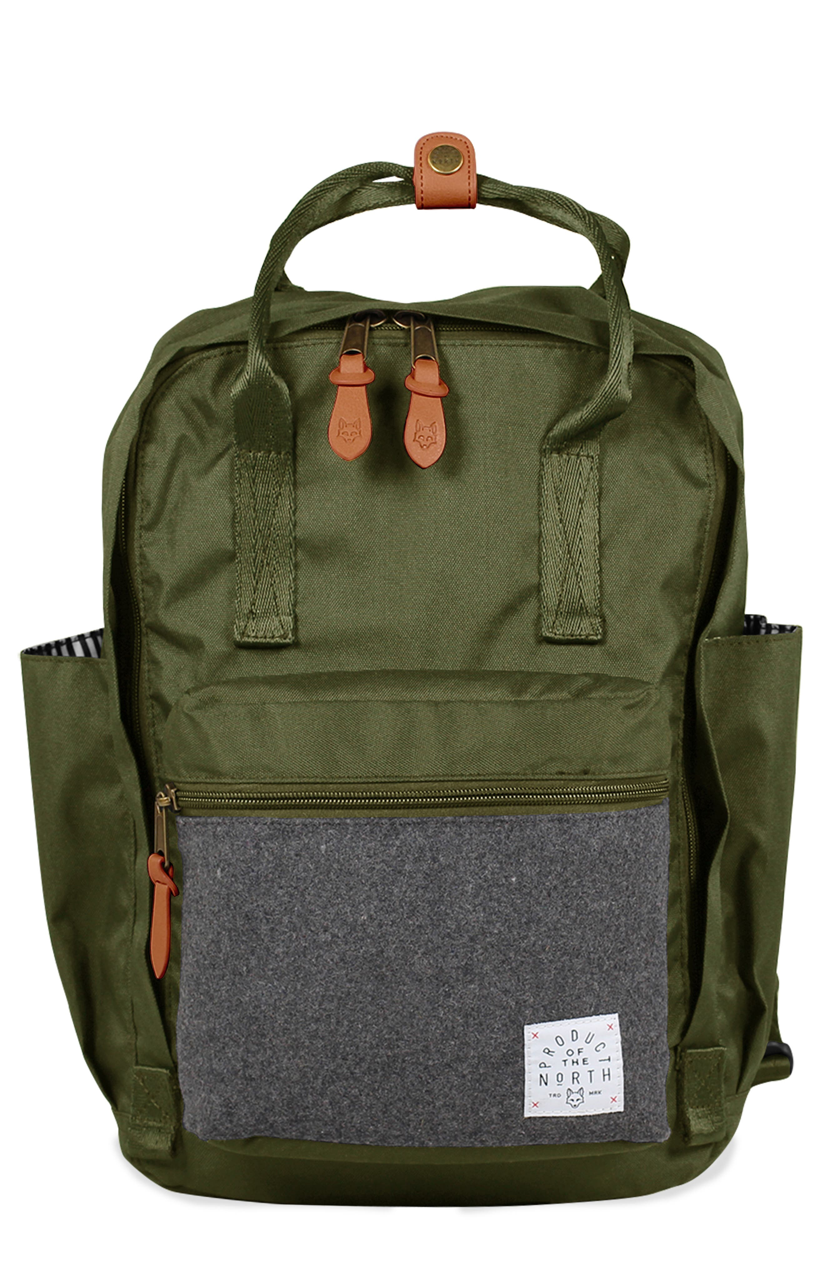 PRODUCT OF THE NORTH,                             Elkin Diaper Backpack,                             Main thumbnail 1, color,                             OLIVE
